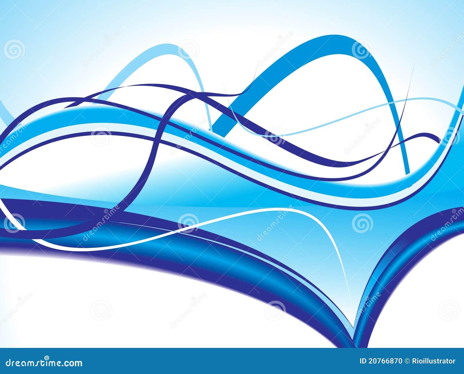 Fondo Azul Metálico Abstracto De Diseño Moderno De La: Fondo Azul Abstracto De La Onda Del Vector Ilustración Del
