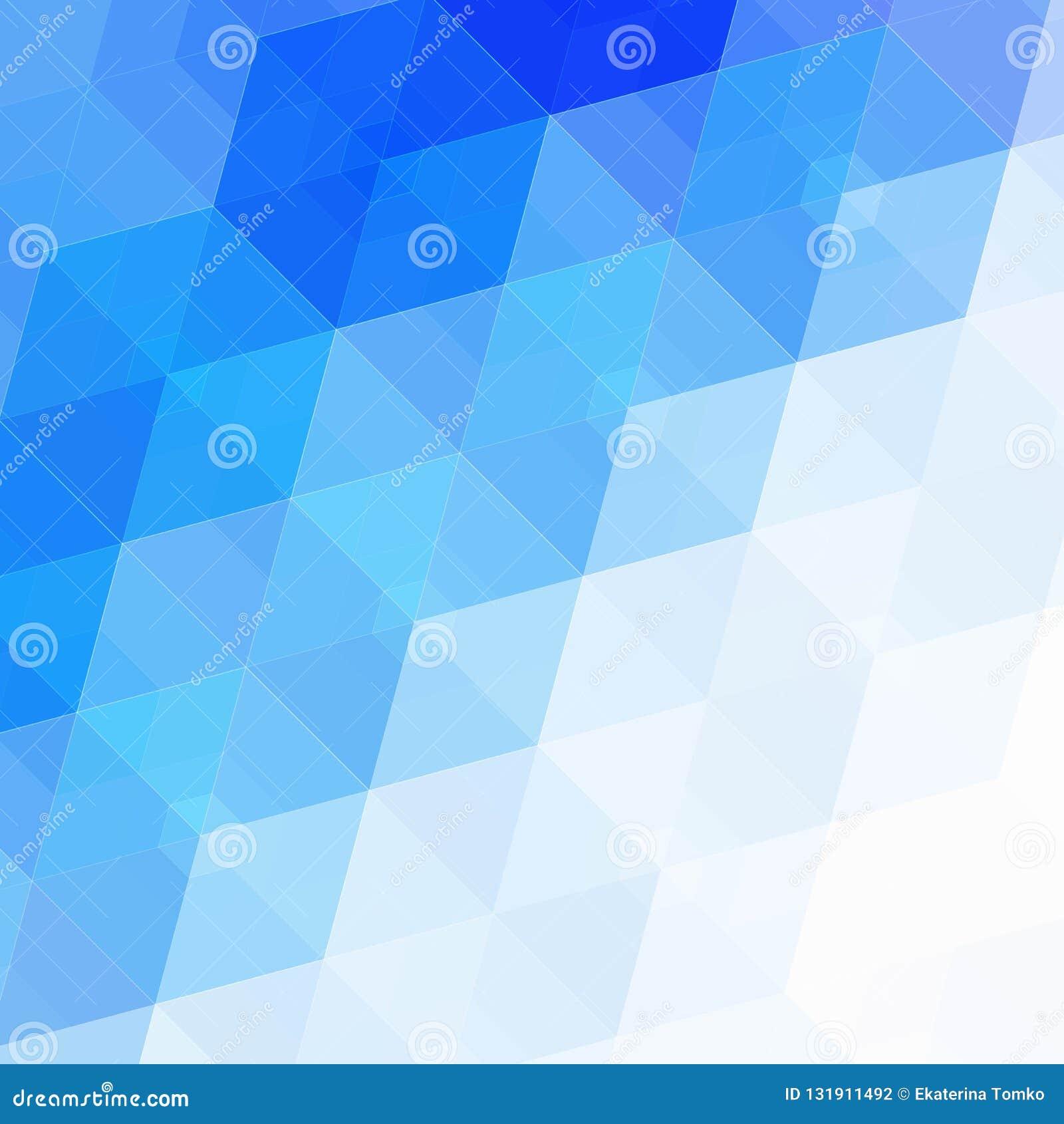 Fondo azul abstracto del hexágono Diseño poligonal de la tecnología Minimalismo futurista de Digitaces Vector del mosaico de la r