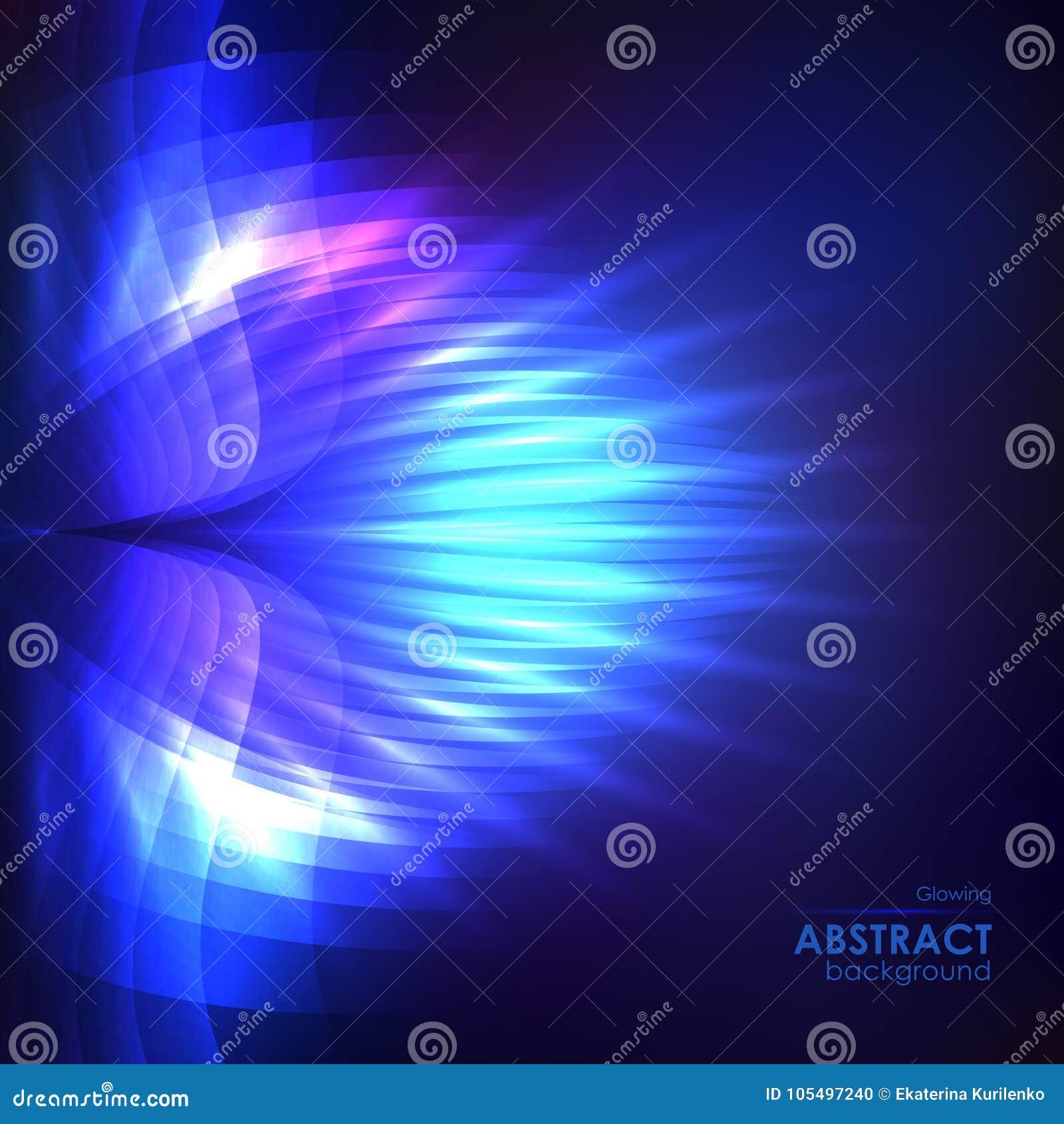 Fondo Azul Brillante Cósmico Ilustración del Vector - Ilustración de ...