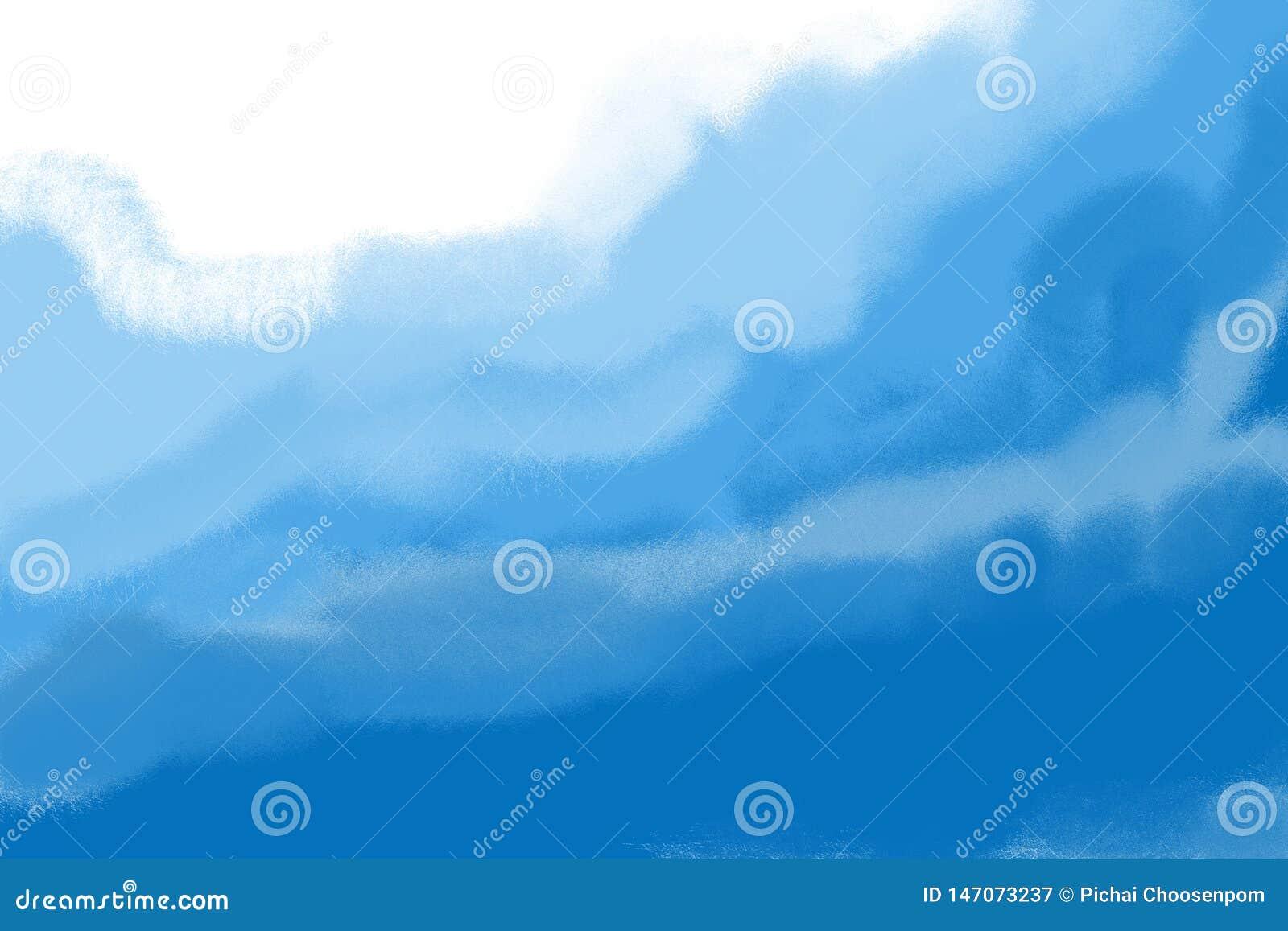 Fondo azul claro del ejemplo de la onda del mar