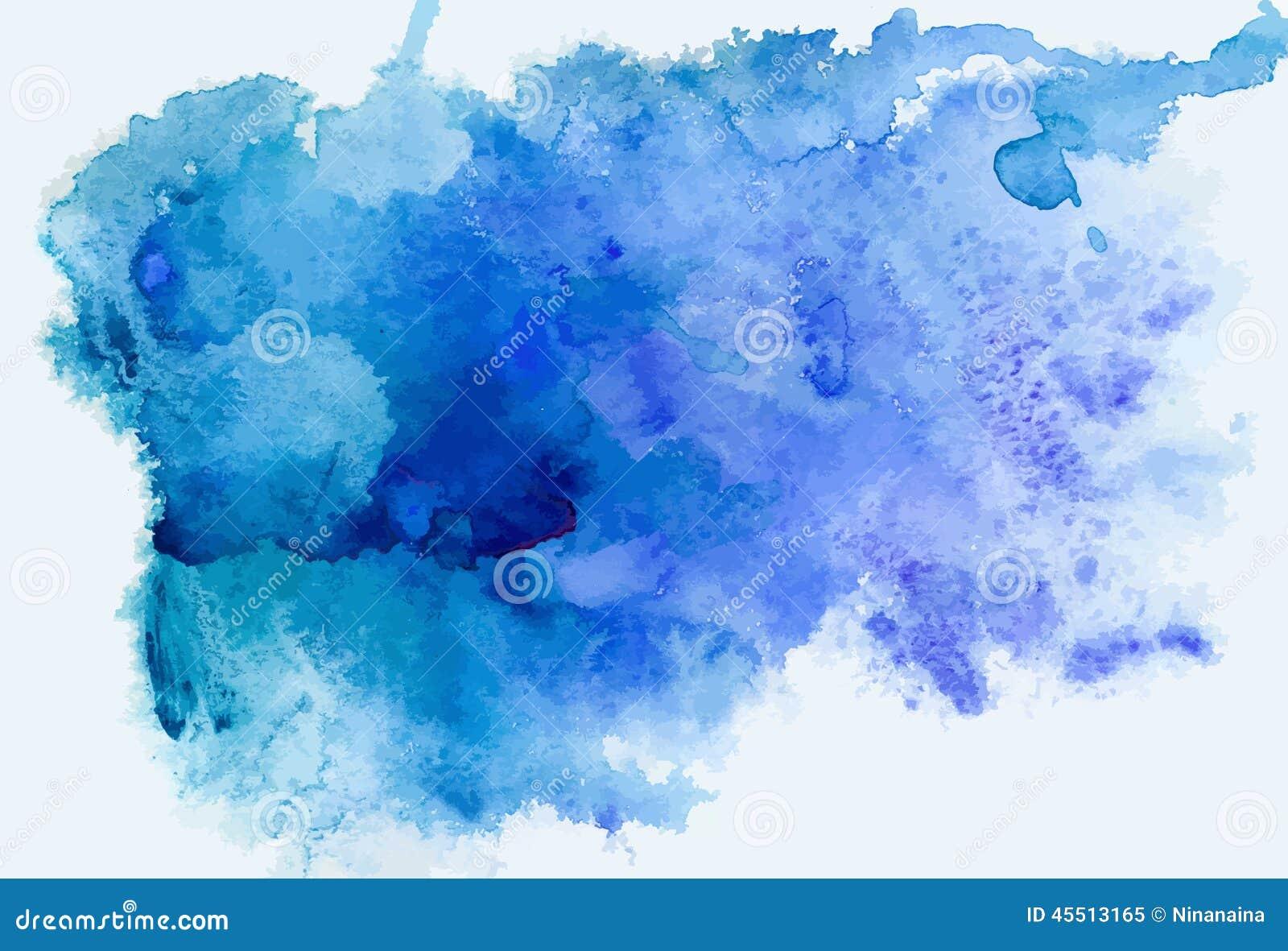 Fondo azul de la acuarela