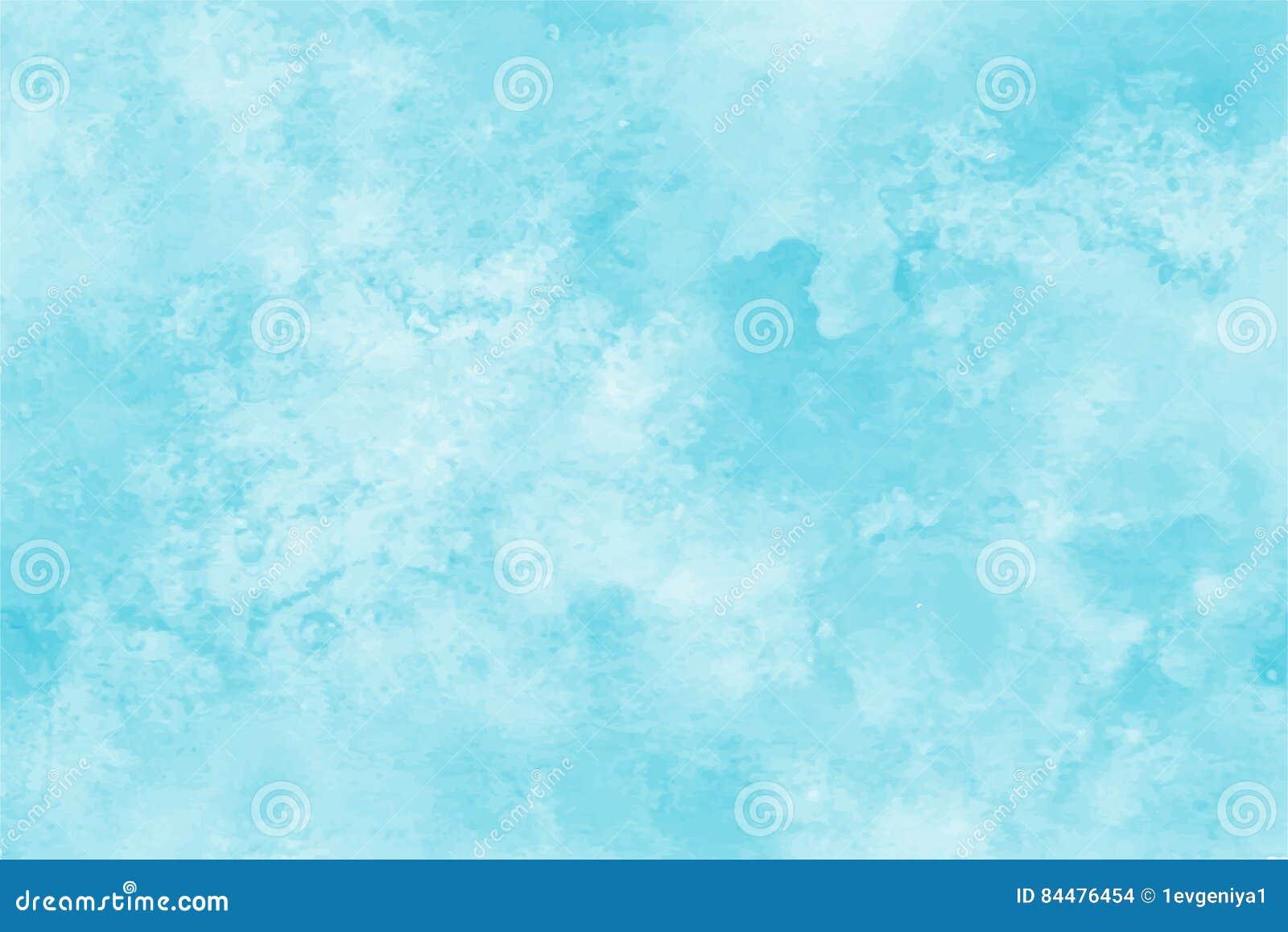 Fondo azul de la acuarela Contexto abstracto de la mancha del cuadrado de la pintura de la mano