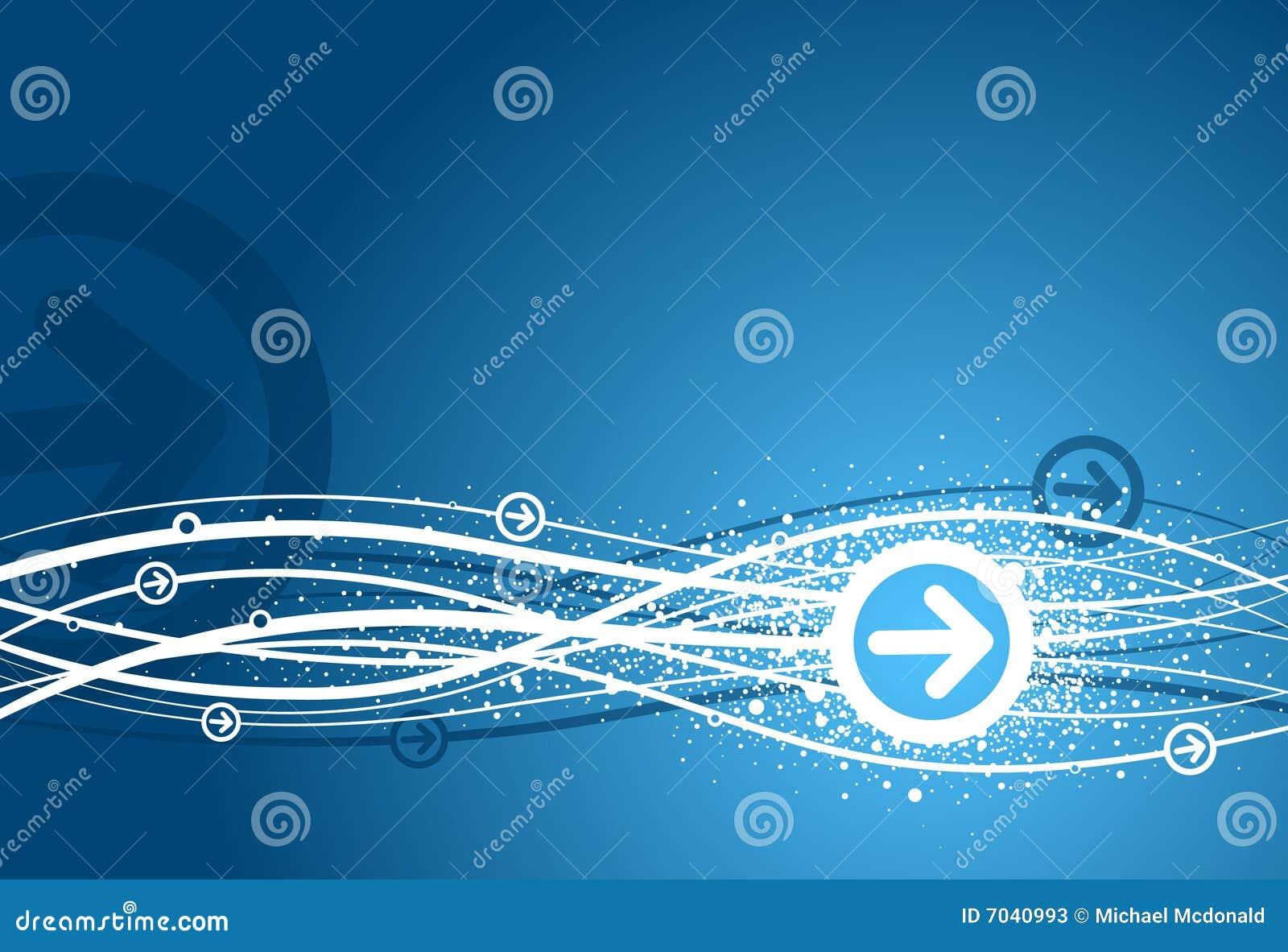 Fondo azul de la flecha