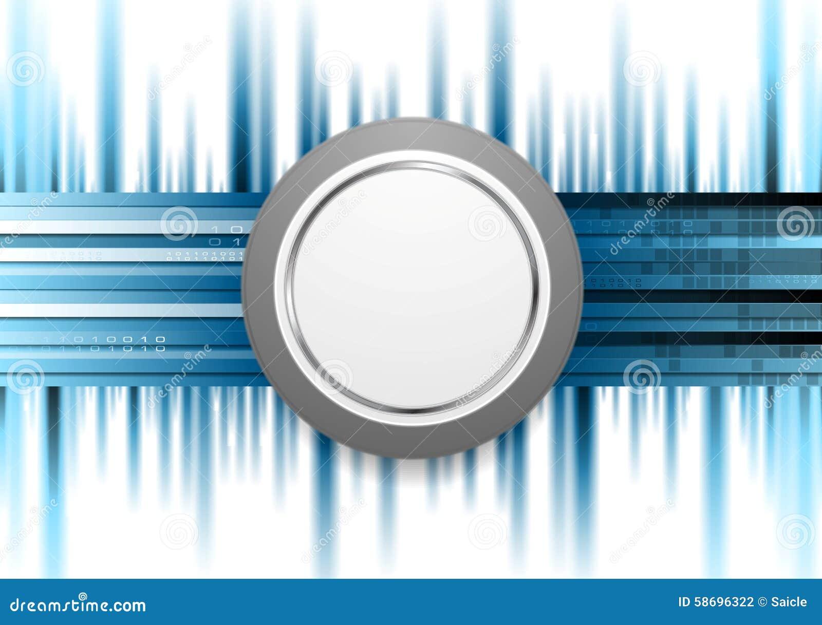 Fondo Azul De La Tecnología Con El Círculo Gris