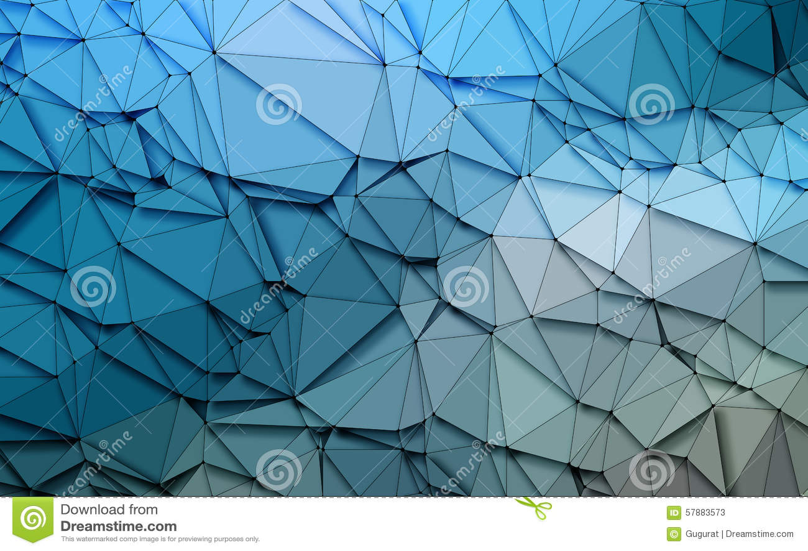 Fondo azul de las lentejuelas de la naturaleza 3D de la papiroflexia geométrica simple abstracta del tono