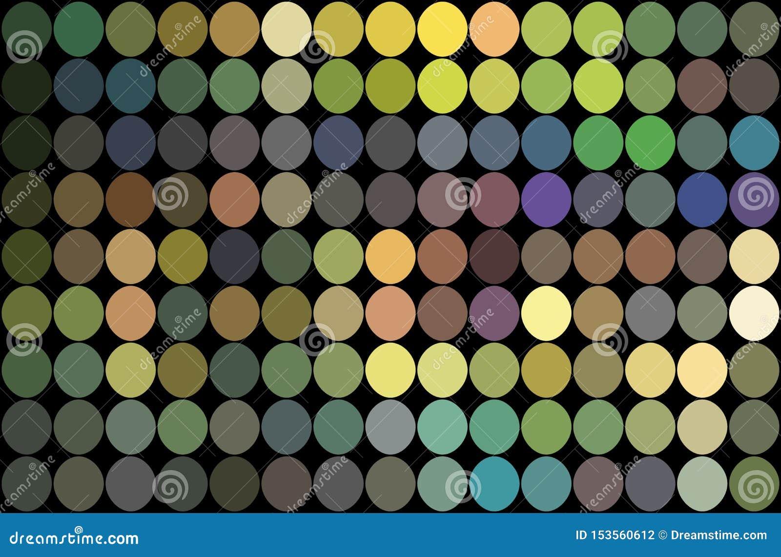Fondo azul de los puntos de la lila amarilla del verde del mosaico Ejemplo olográfico del reflejo