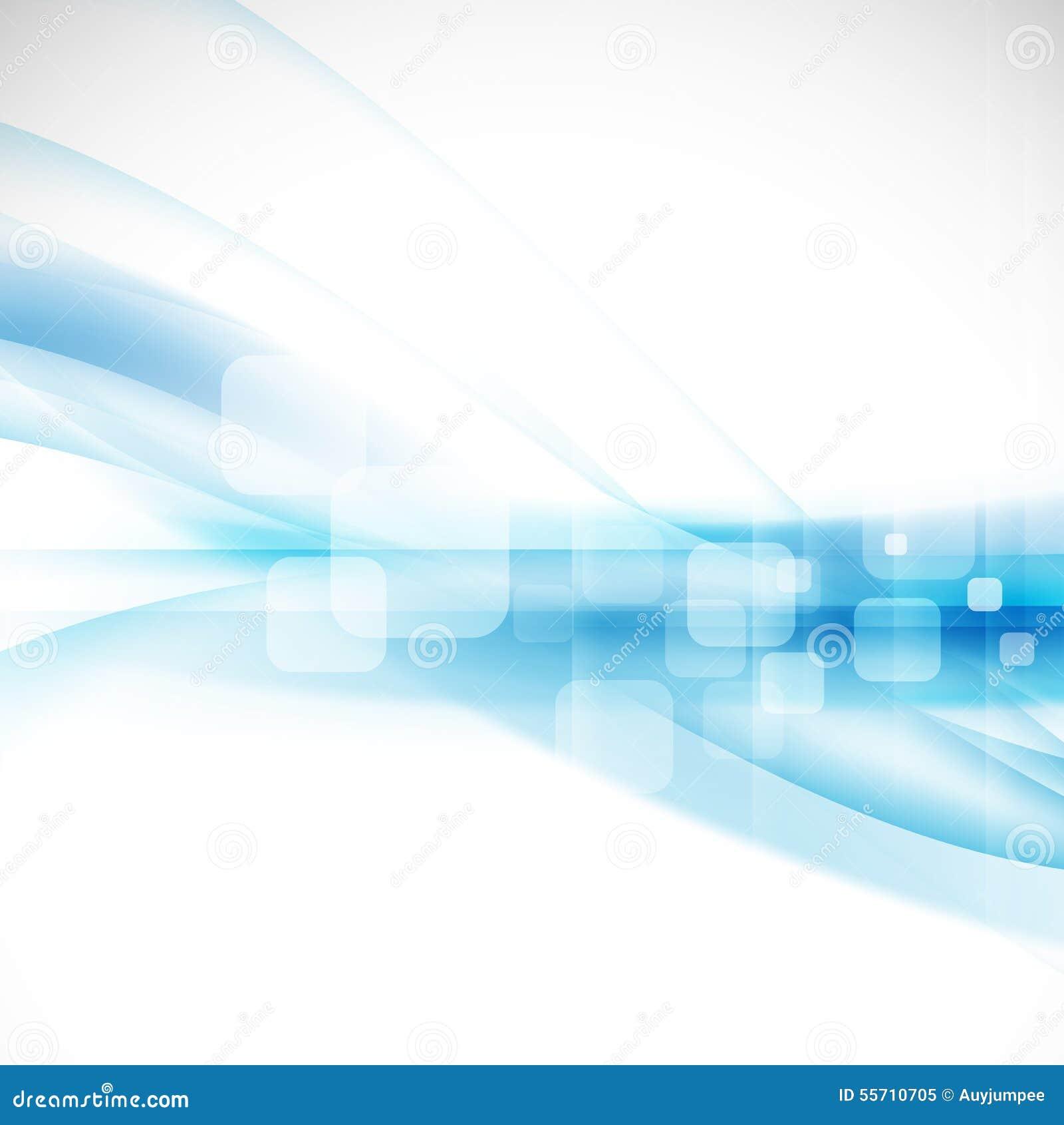 Fondo azul del flujo abstracto para la presentación del concepto de la tecnología o de la ciencia, el vector y el ejemplo