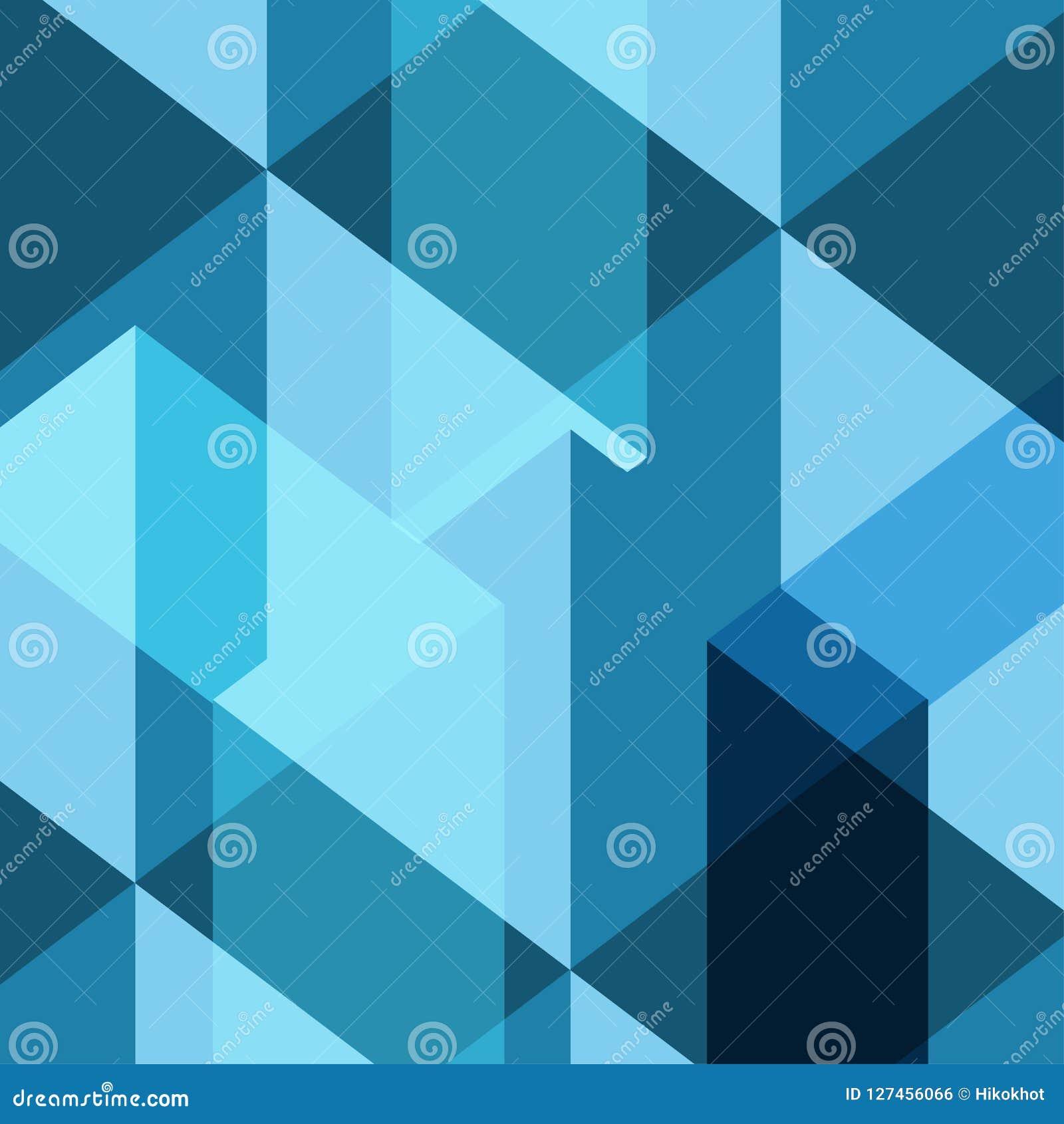 Fondo azul del modelo del vector del polígono del cuadrado de la sombra