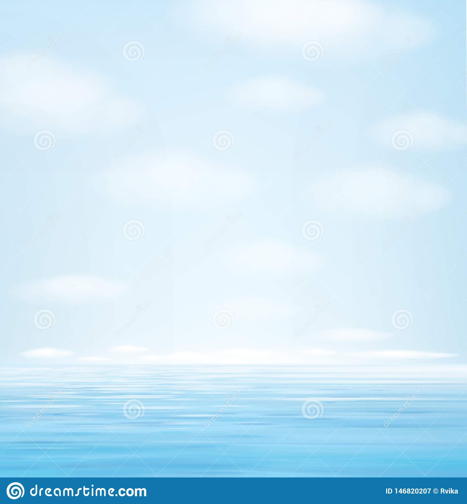 Fondo azul del paisaje marino del vector