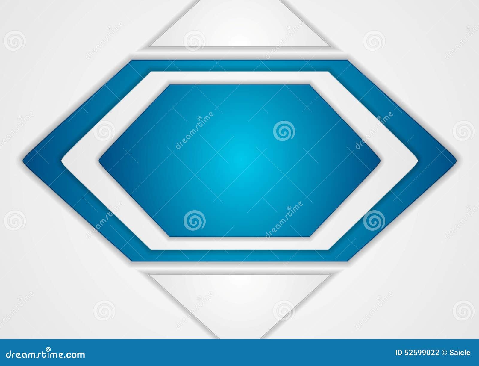 Fondo Azul Y Gris Abstracto Del Vector Ilustración Del