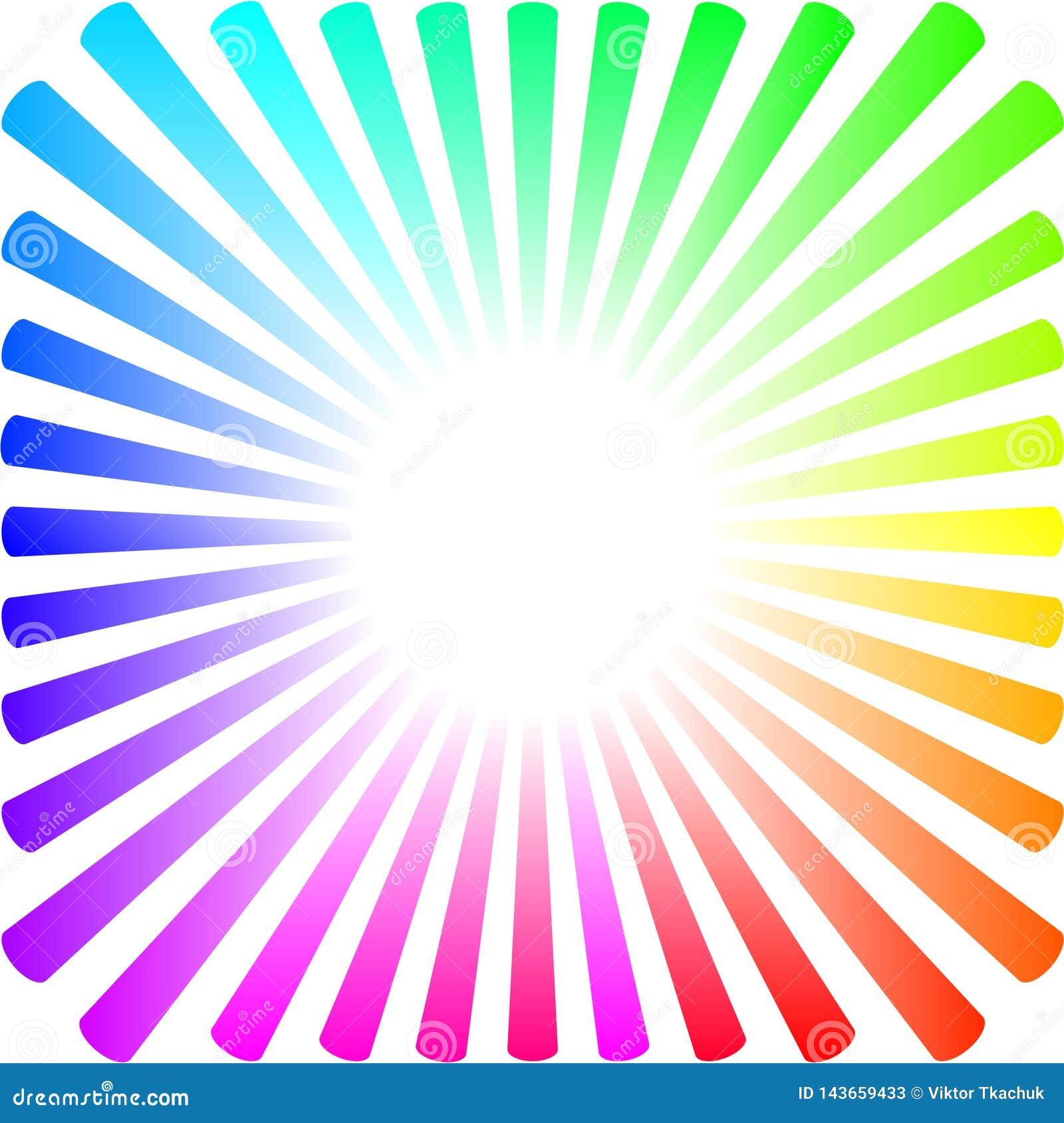 Fondo Bajo La Forma De Sol Coloreado Con Los Rayos