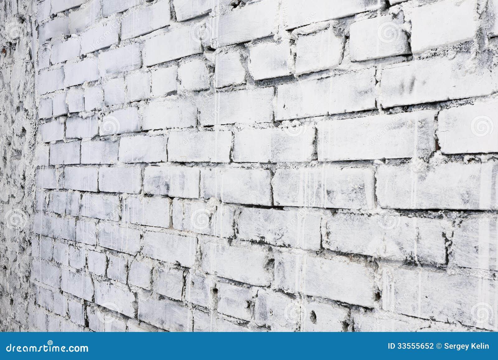 Fondo Bianco Del Muro Di Mattoni Nella Prospettiva ...