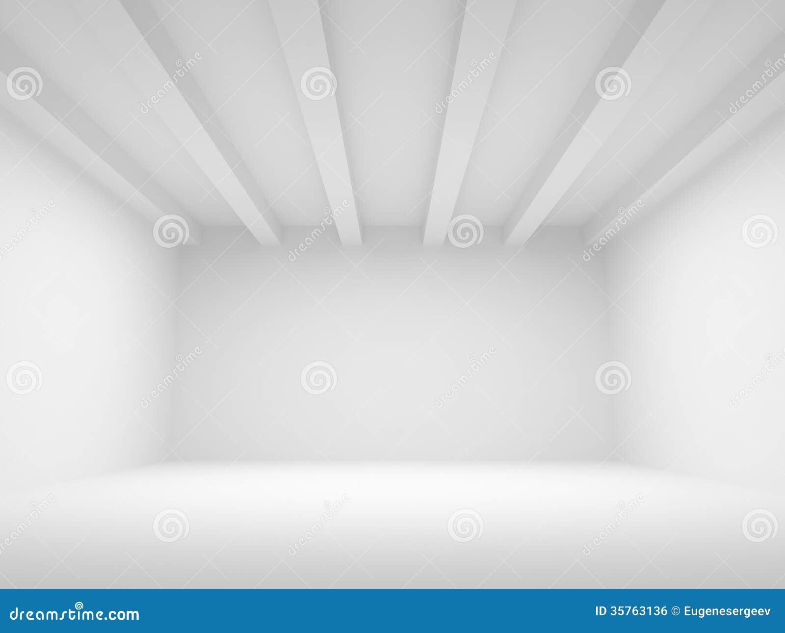 Fondo blanco abstracto de la arquitectura 3d stock de for Suelo 3d blanco