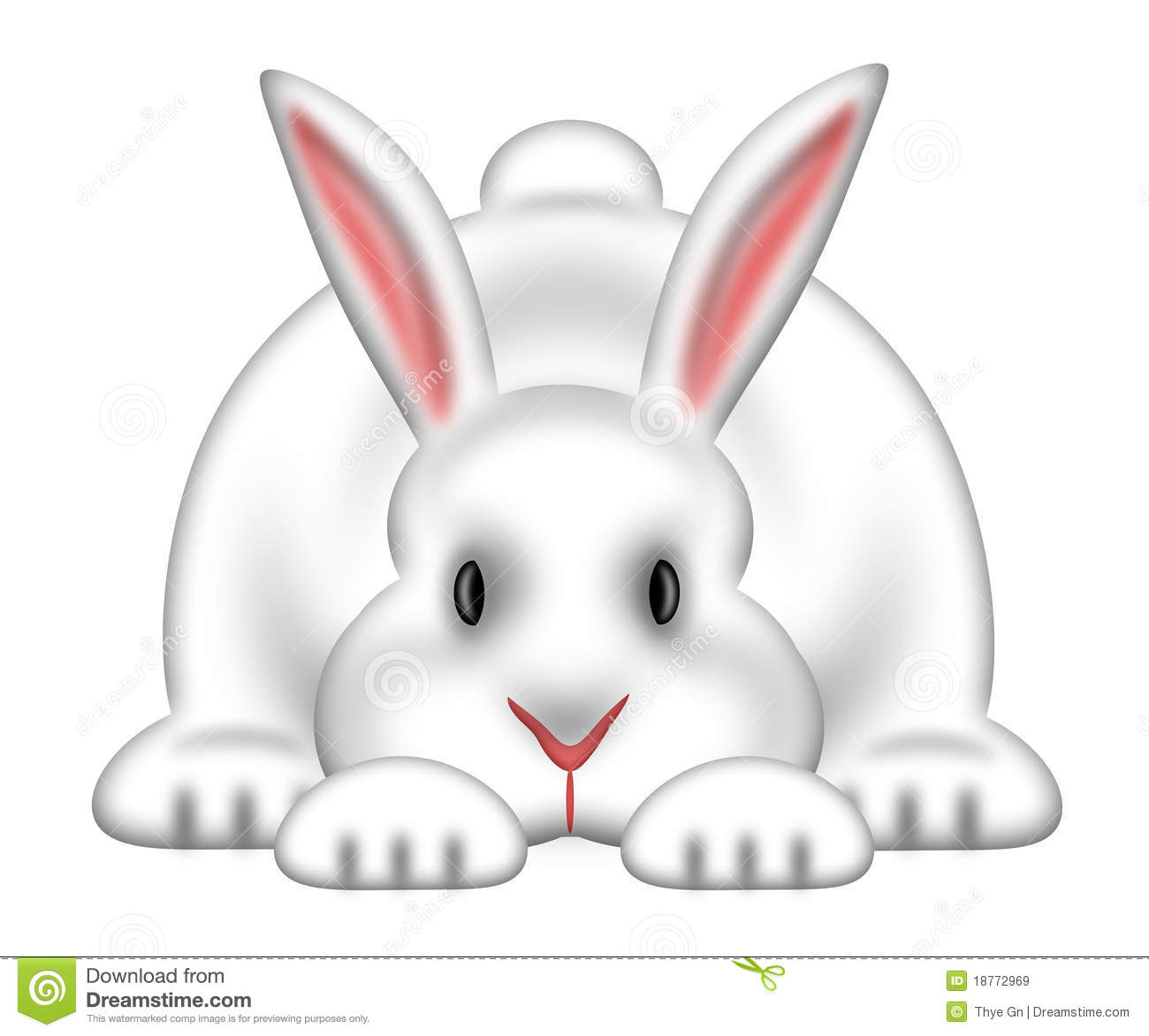 White Easter Bunny