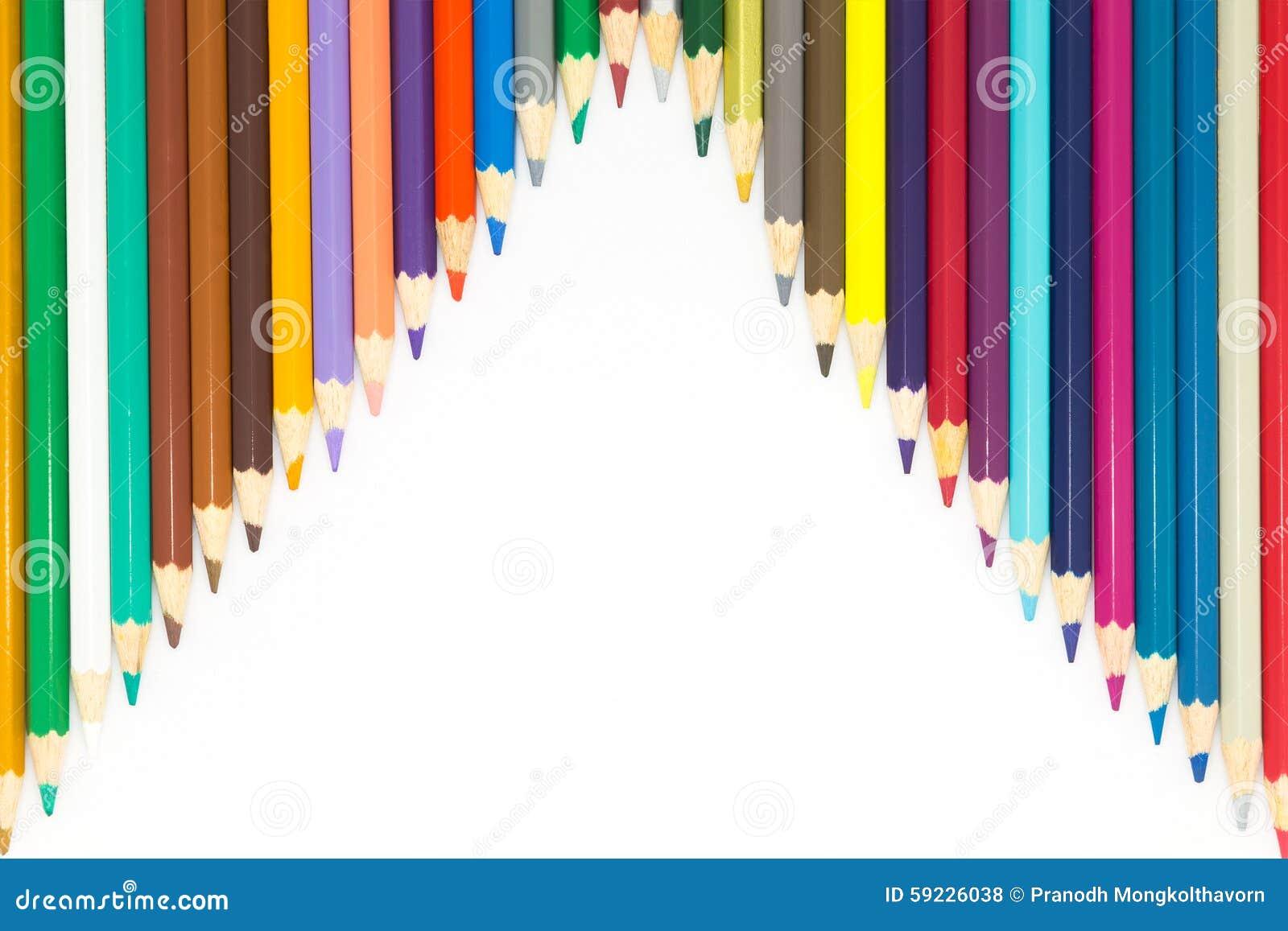 Download Fondo Blanco Con Los Lápices De Madera De Los Colores Foto de archivo - Imagen de grupo, arreglo: 59226038