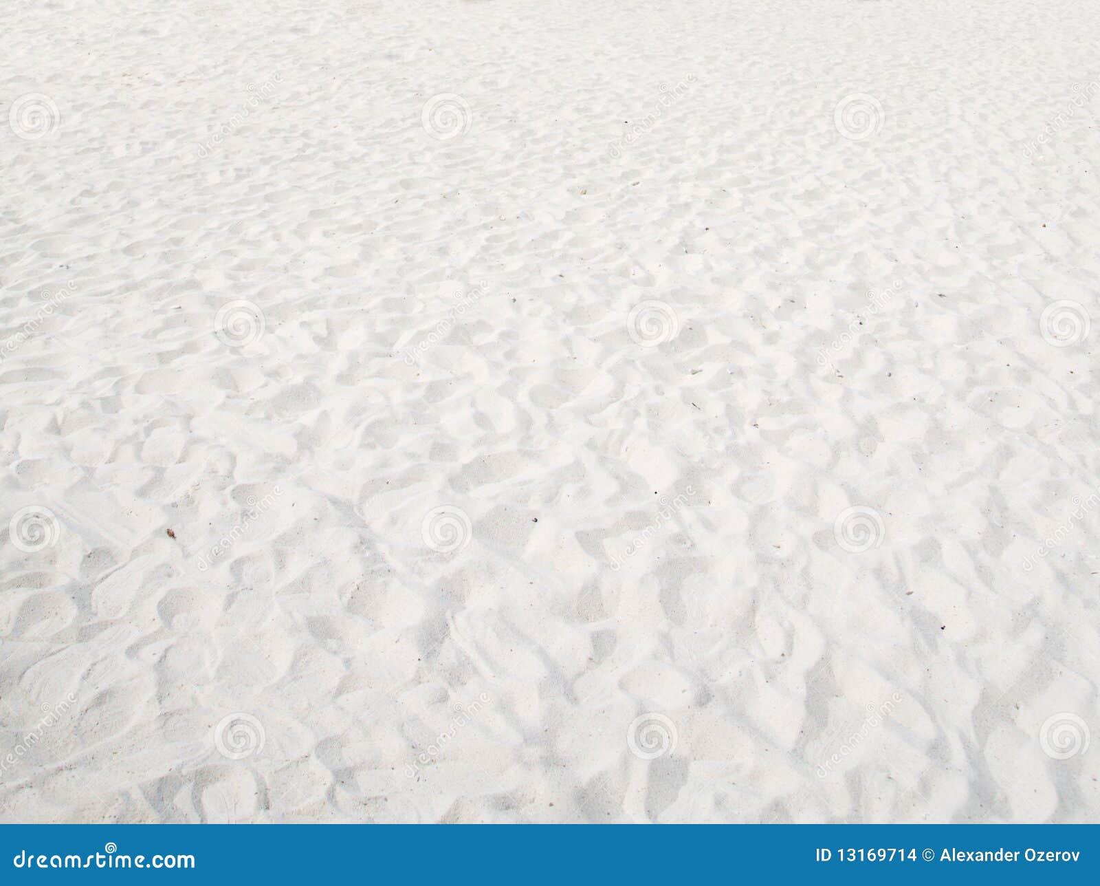 Fondo blanco de la arena