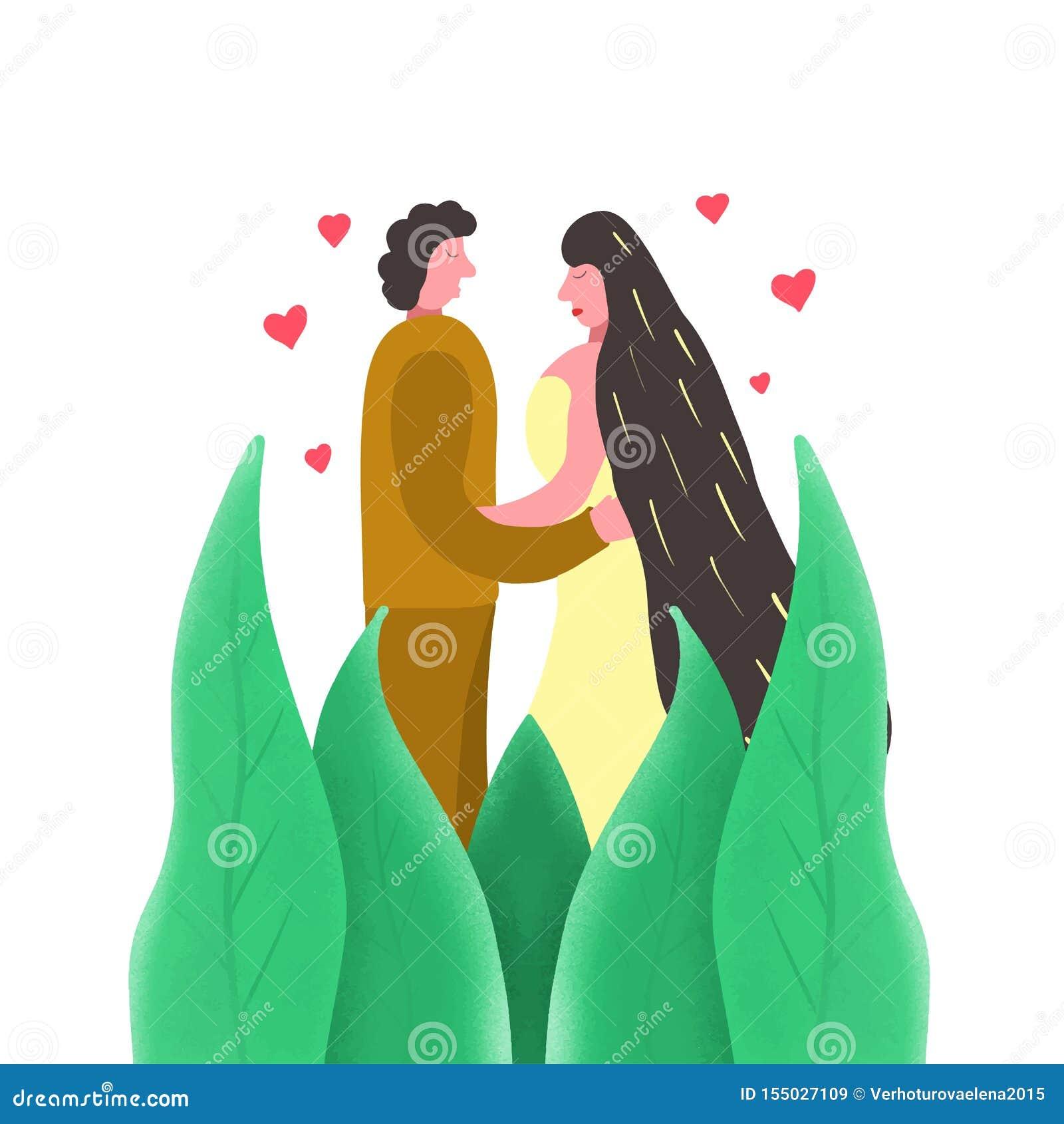 Fondo blanco de moda de la pareja de matrimonios, gran diseño para cualquier propósitos Ejemplo creativo Recienes casados jovenes
