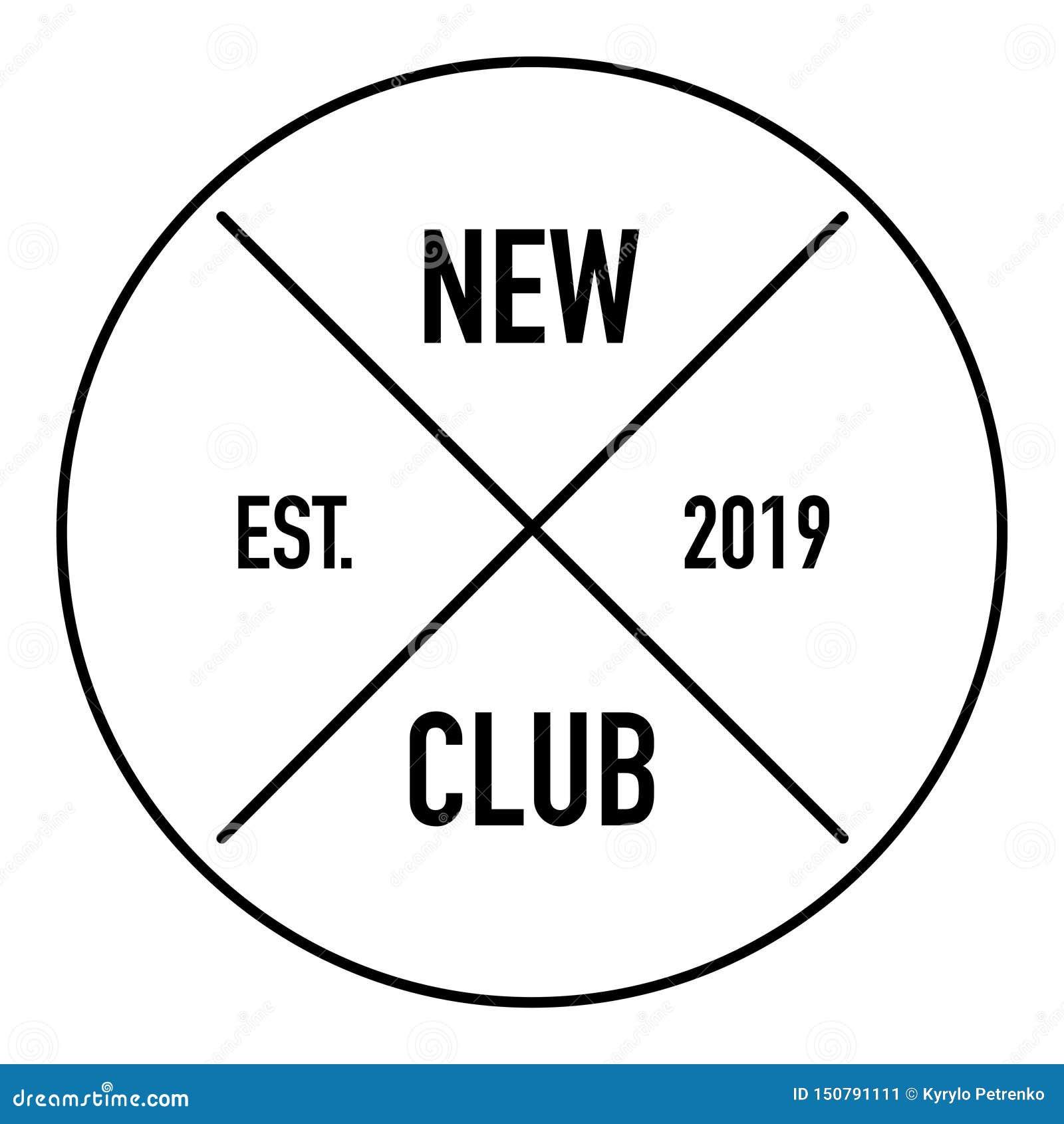 Fondo blanco del nuevo del club de británicos logotipo del estilo