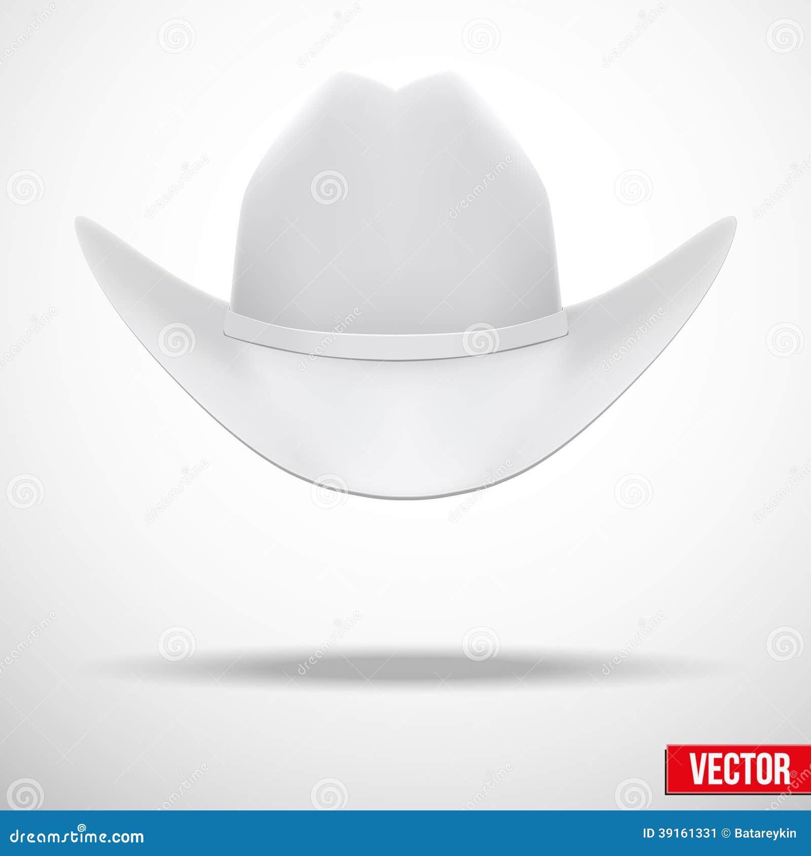 Fondo del sombrero de vaquero blanco. Símbolo tradicional. Ejemplo del  vector c752b5725ac