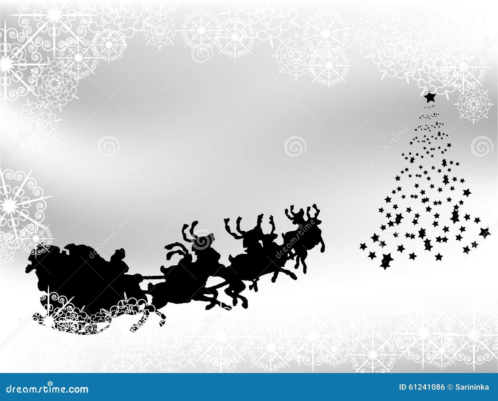 Fondo Blanco Y Negro De La Navidad Ilustración Del Vector