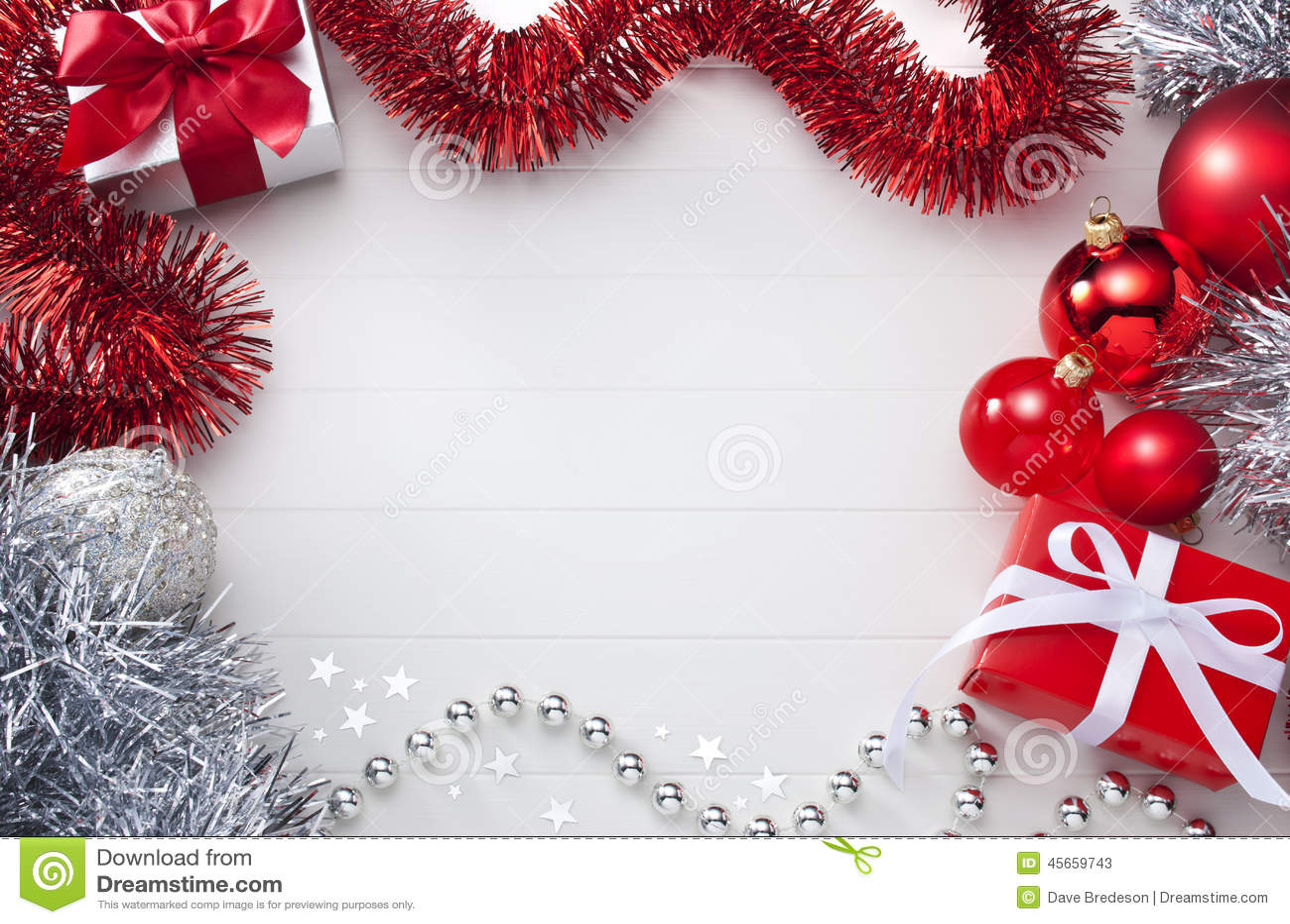 Fondo blanco y rojo de la Navidad