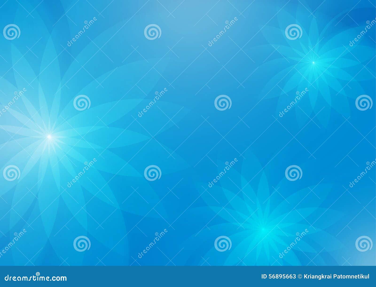 Fondo blu-chiaro floreale astratto per progettazione