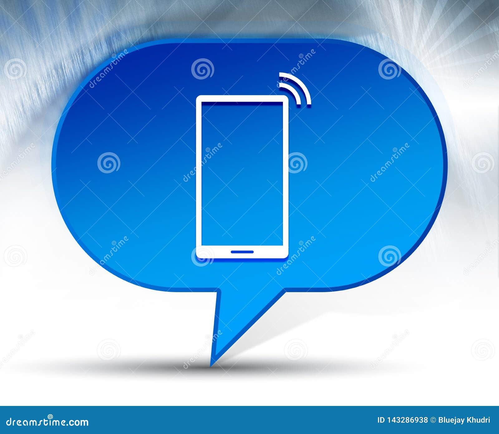 Fondo blu della bolla dell icona del segnale della rete di Smartphone