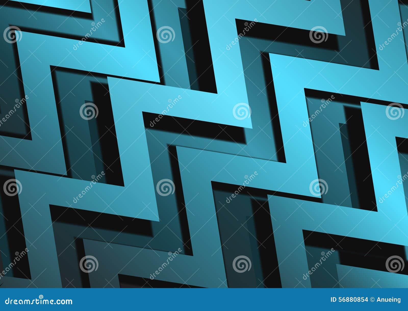 Fondo blu della superficie di metallo di zigzag astratto