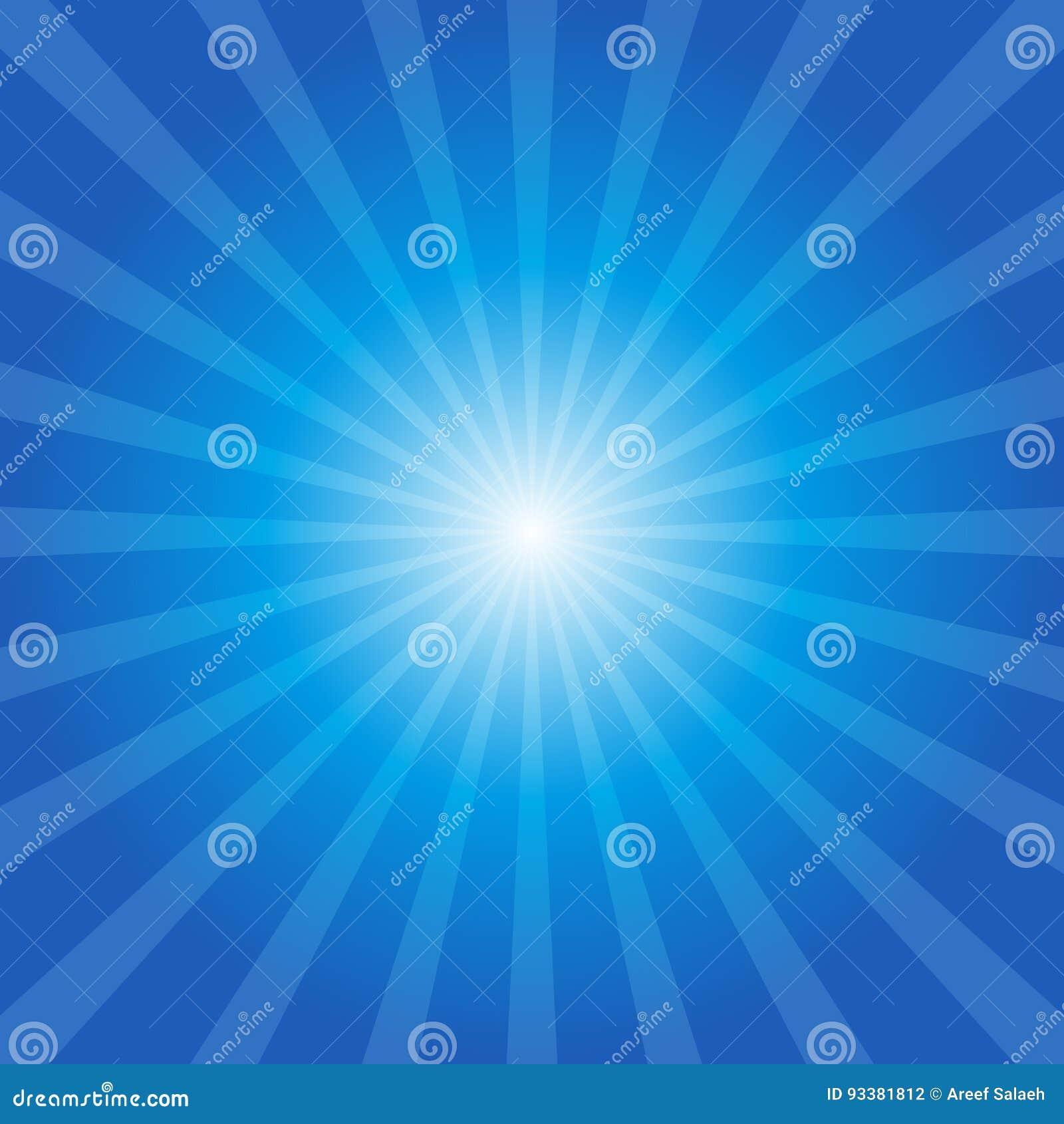 Fondo blu dello sprazzo di sole