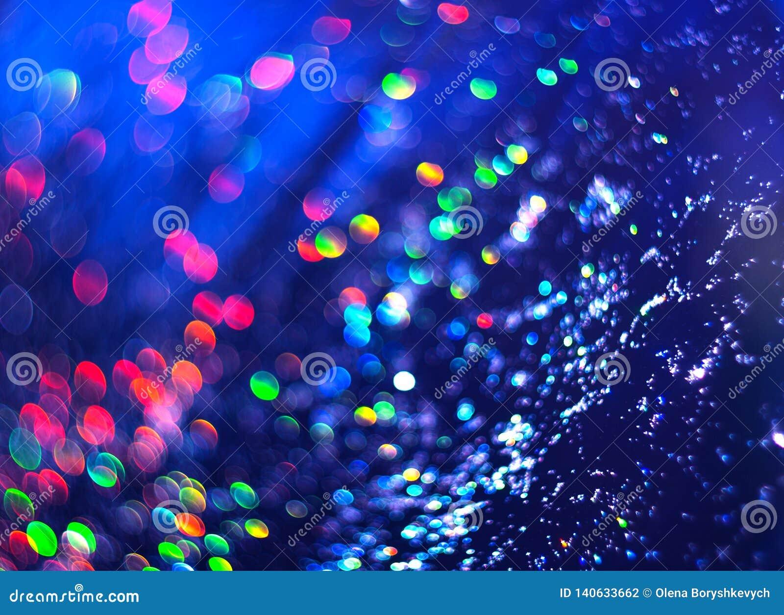 Fondo blu di luminosità astratta