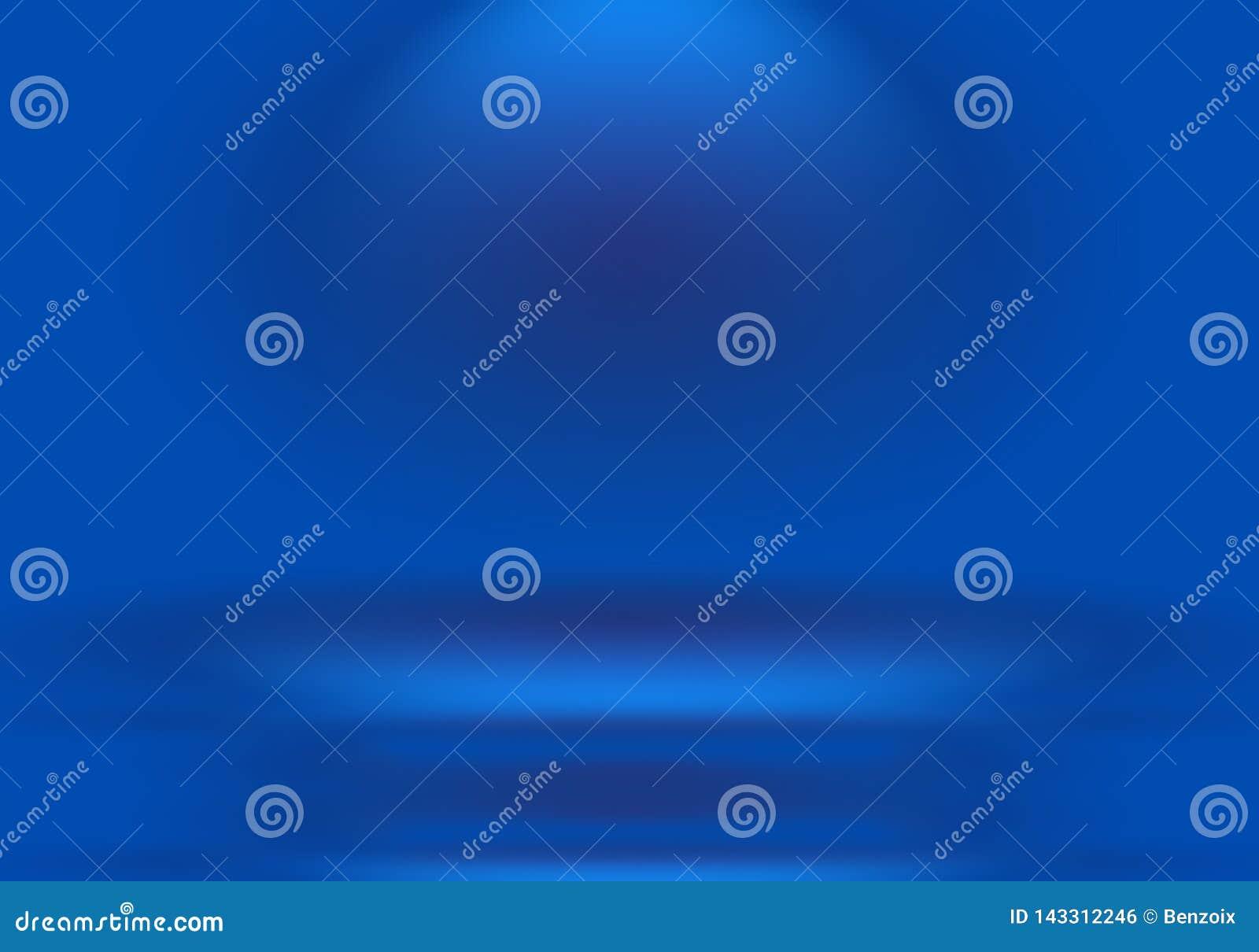 Fondo blu di pendenza di lusso astratta Lisci blu scuro con l insegna nera dello studio di scenetta