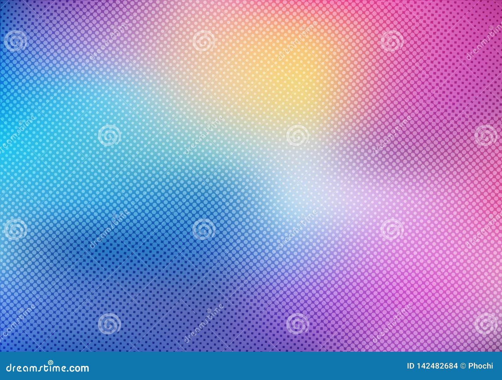 Fondo borroso colorido con la textura de semitono de la capa del efecto