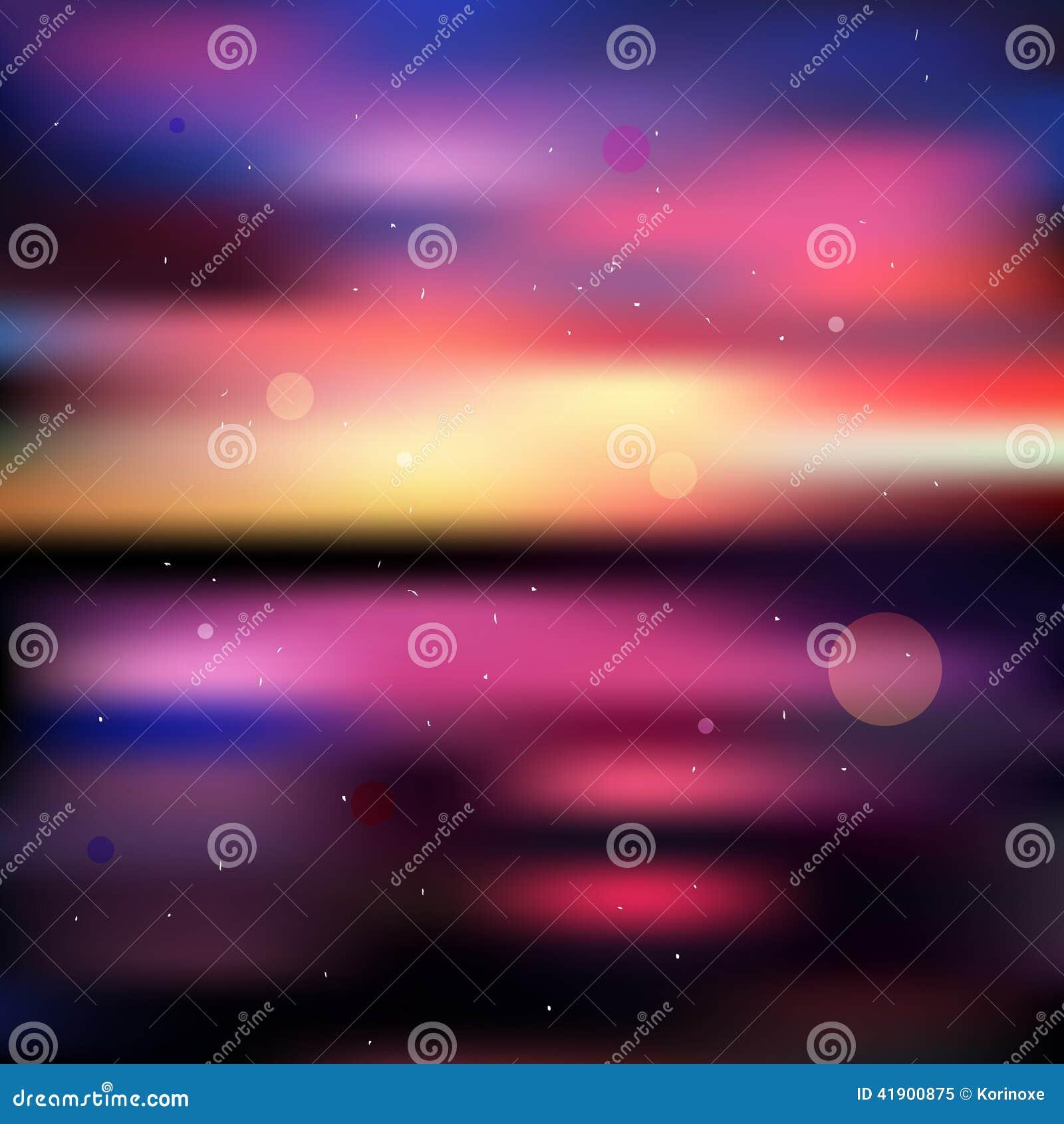 Fondo borroso colorido de la puesta del sol