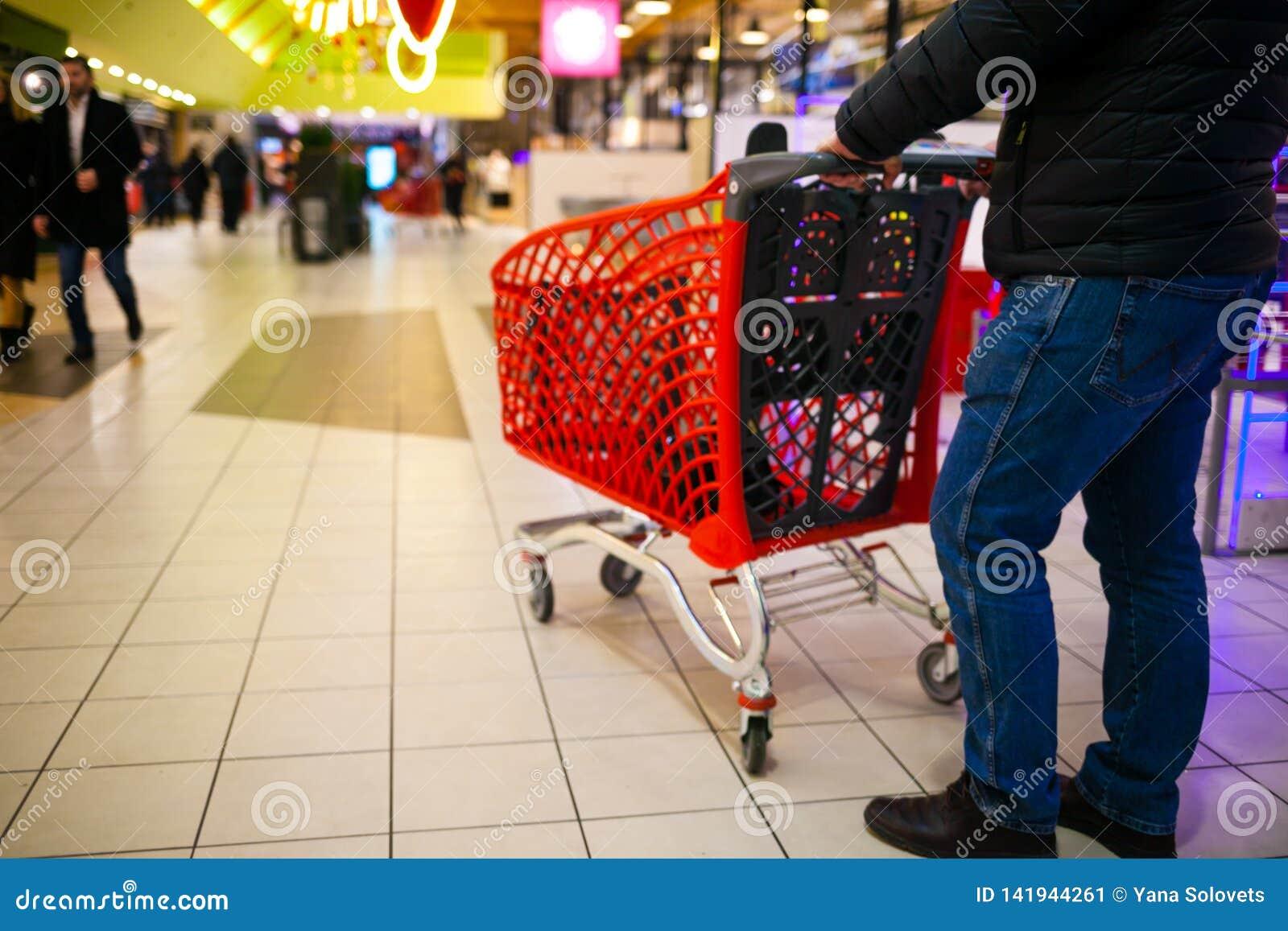 Fondo borroso del supermercado