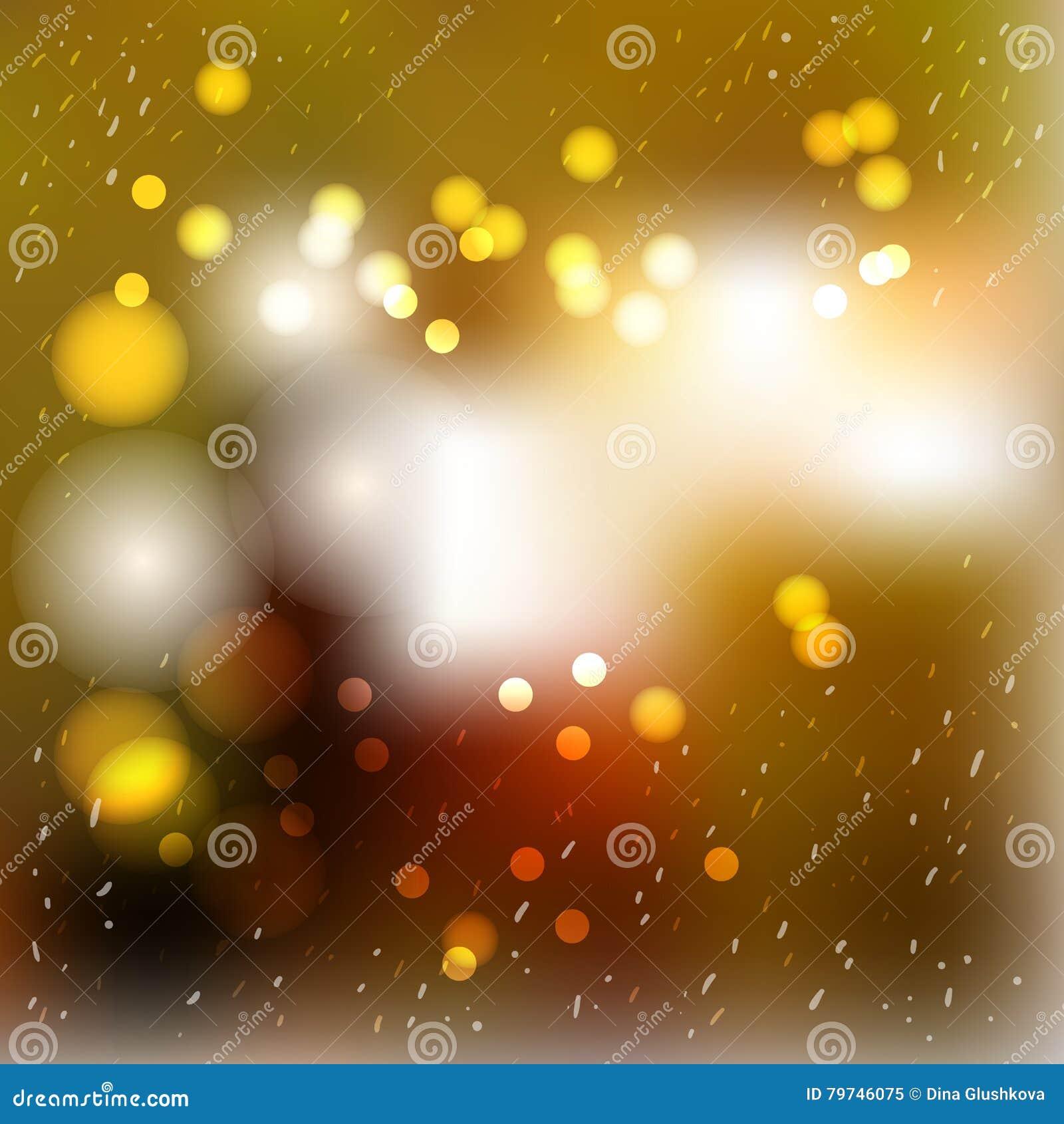 Fondo borroso vector del extracto del invierno Linternas, chispas