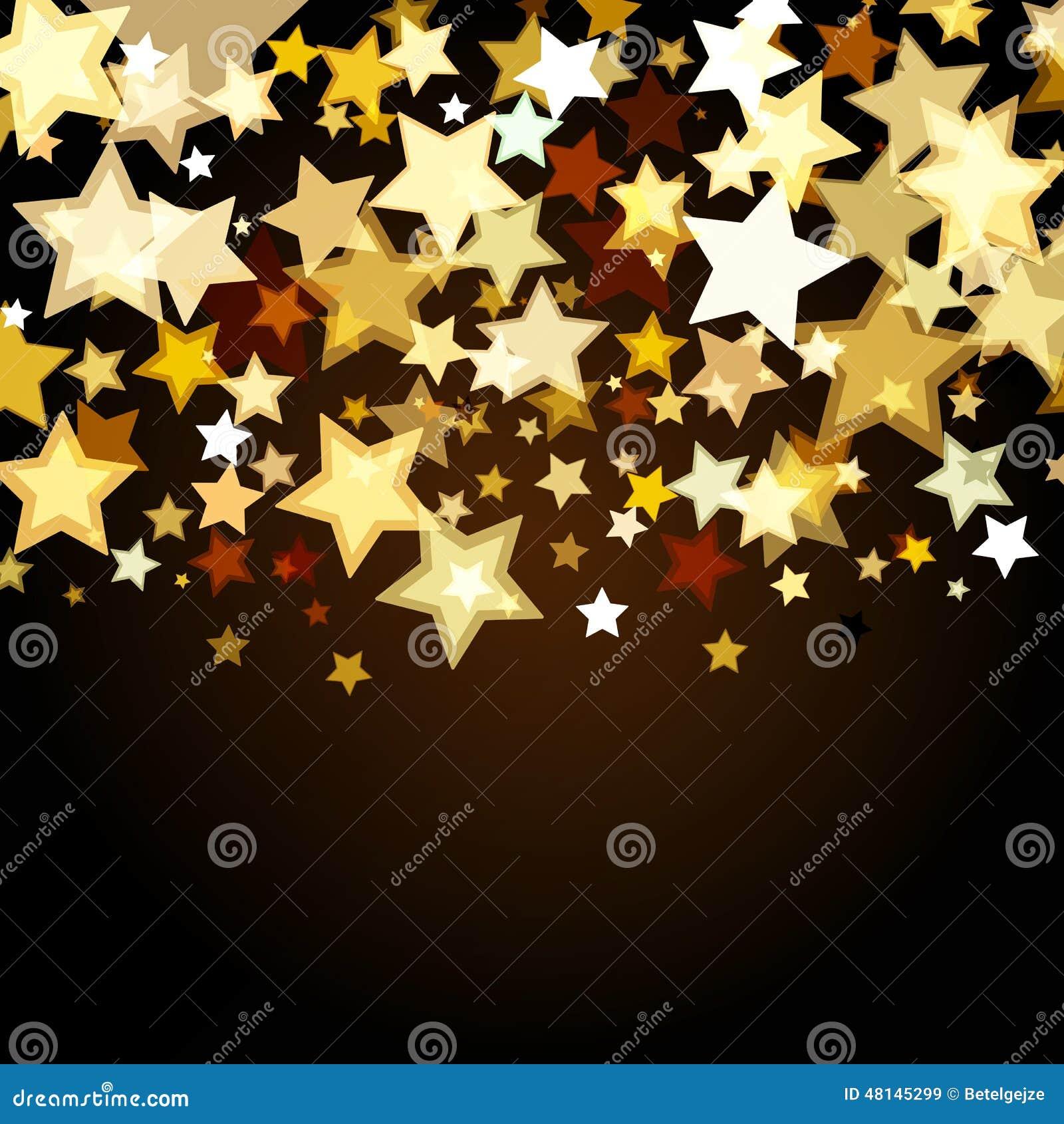 Fondo brillante con le stelle d ardore astratte BAC di festa di vettore