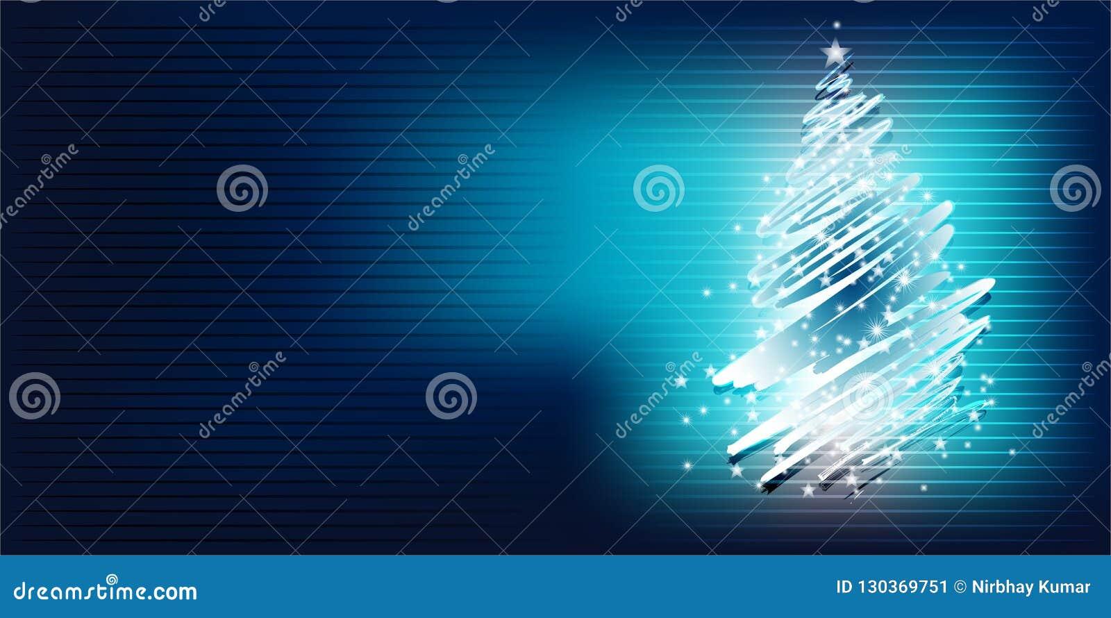 Fondo brillante de la pendiente del árbol de navidad