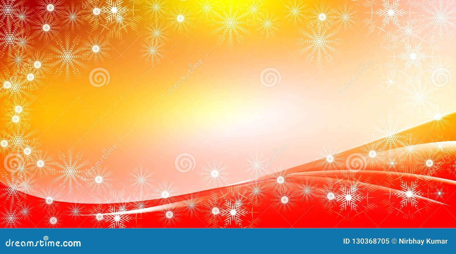 Fondo brillante de la pendiente de la Navidad anaranjada
