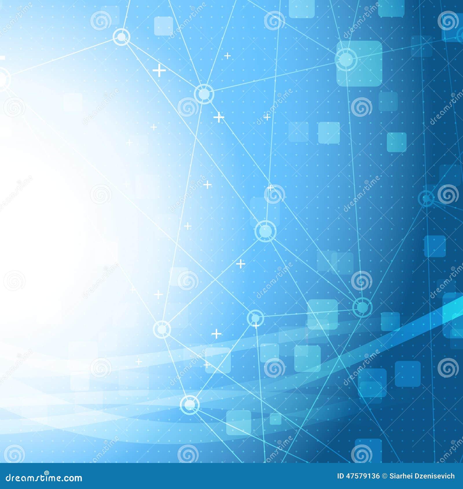 Fondo brillante del negocio del modelo azul de la conexión