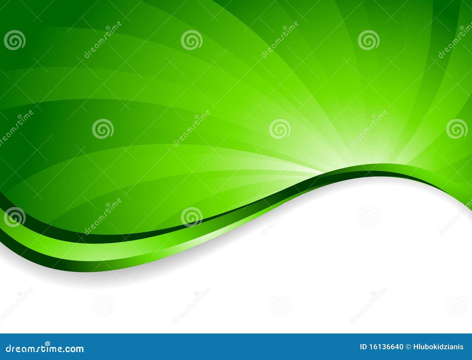 Fondo Brillante En Color Verde Ilustración Del Vector