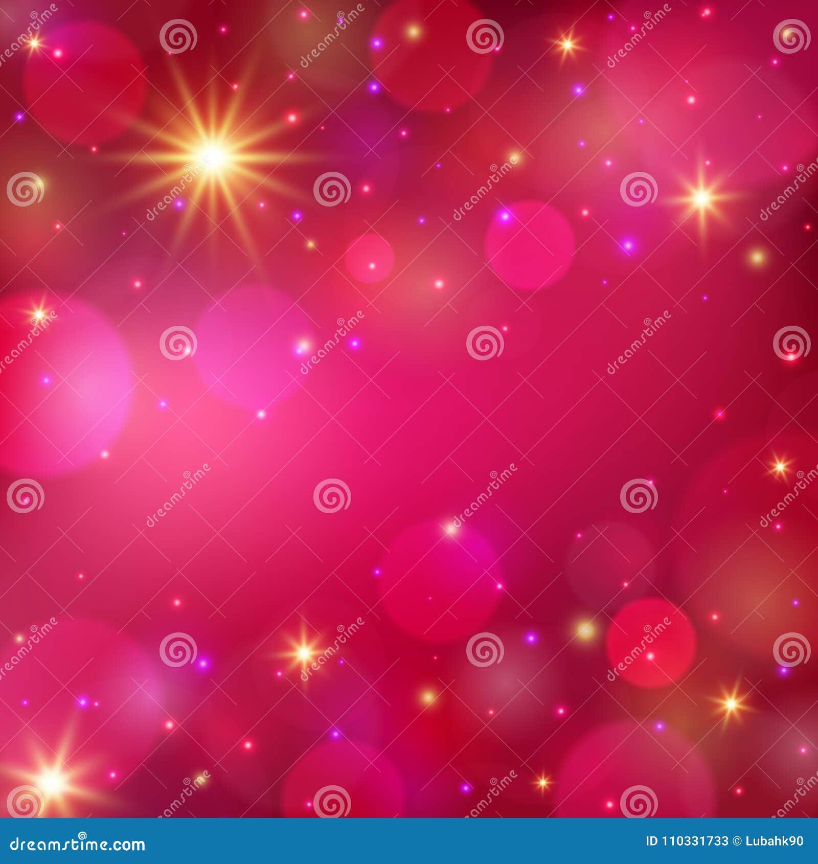Fondo brillante mágico fondo romántico Ilustración del vector