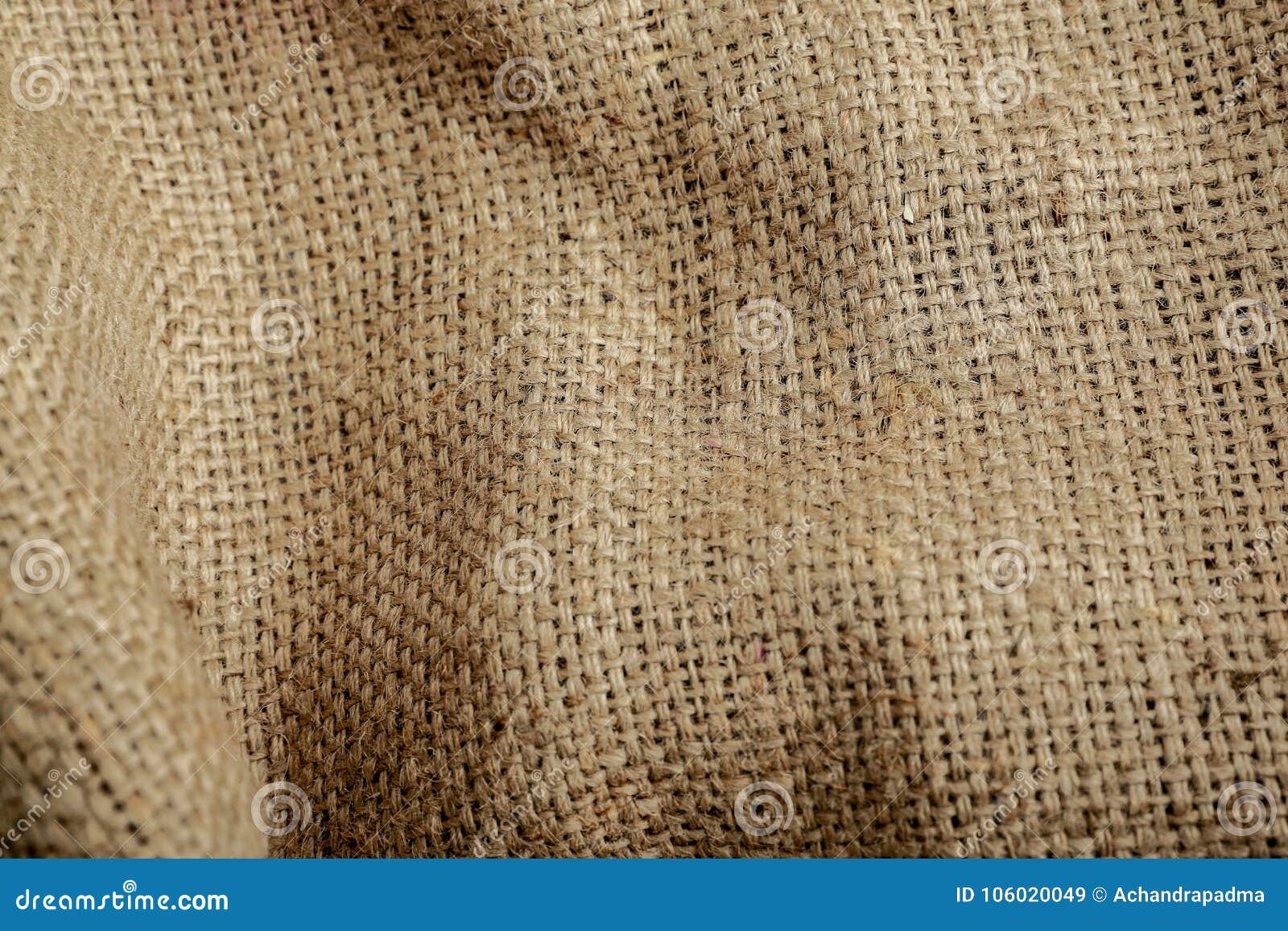 Fondo Brown, tessuto, primo piano di struttura del sacco