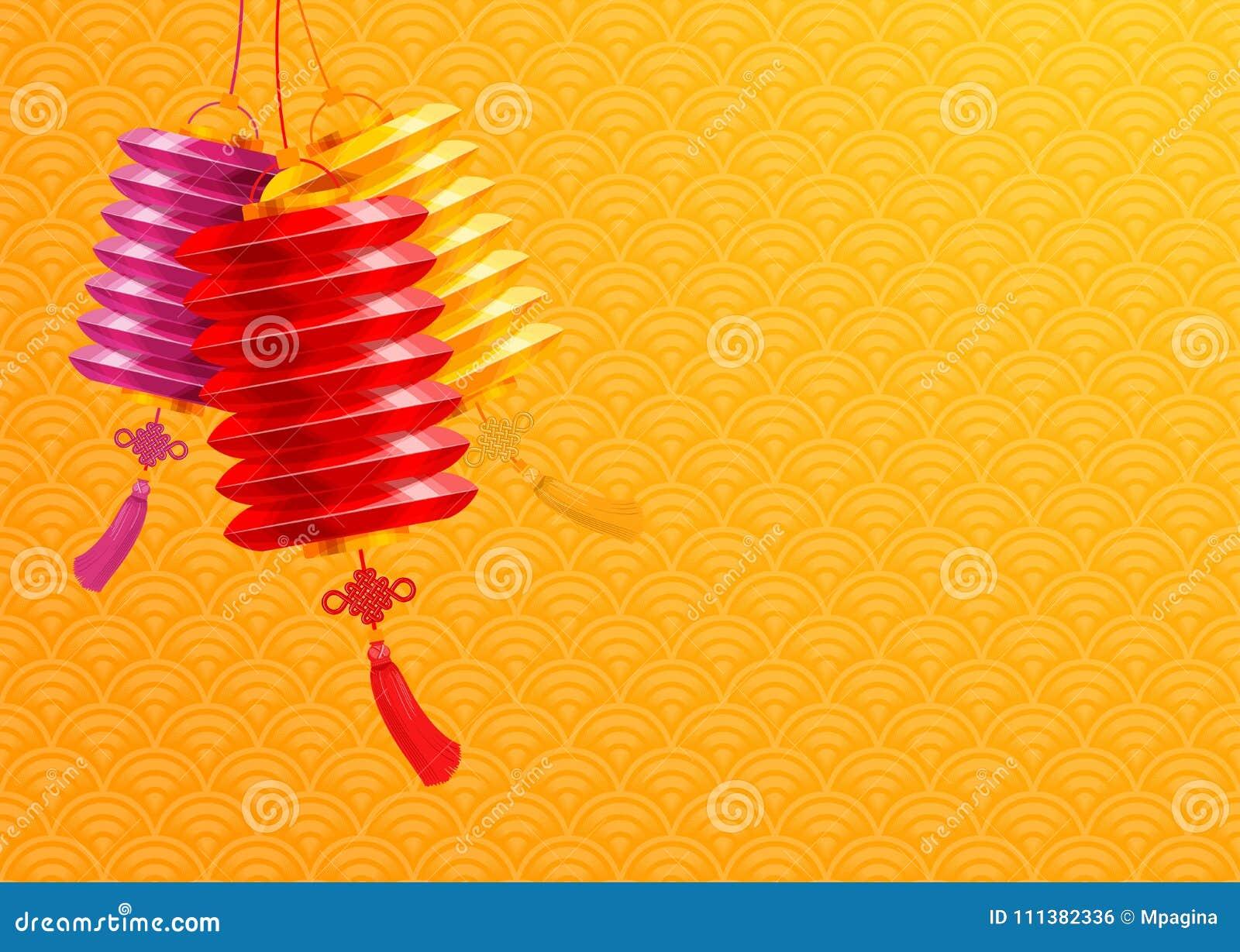 Fondo chino de las linternas de papel