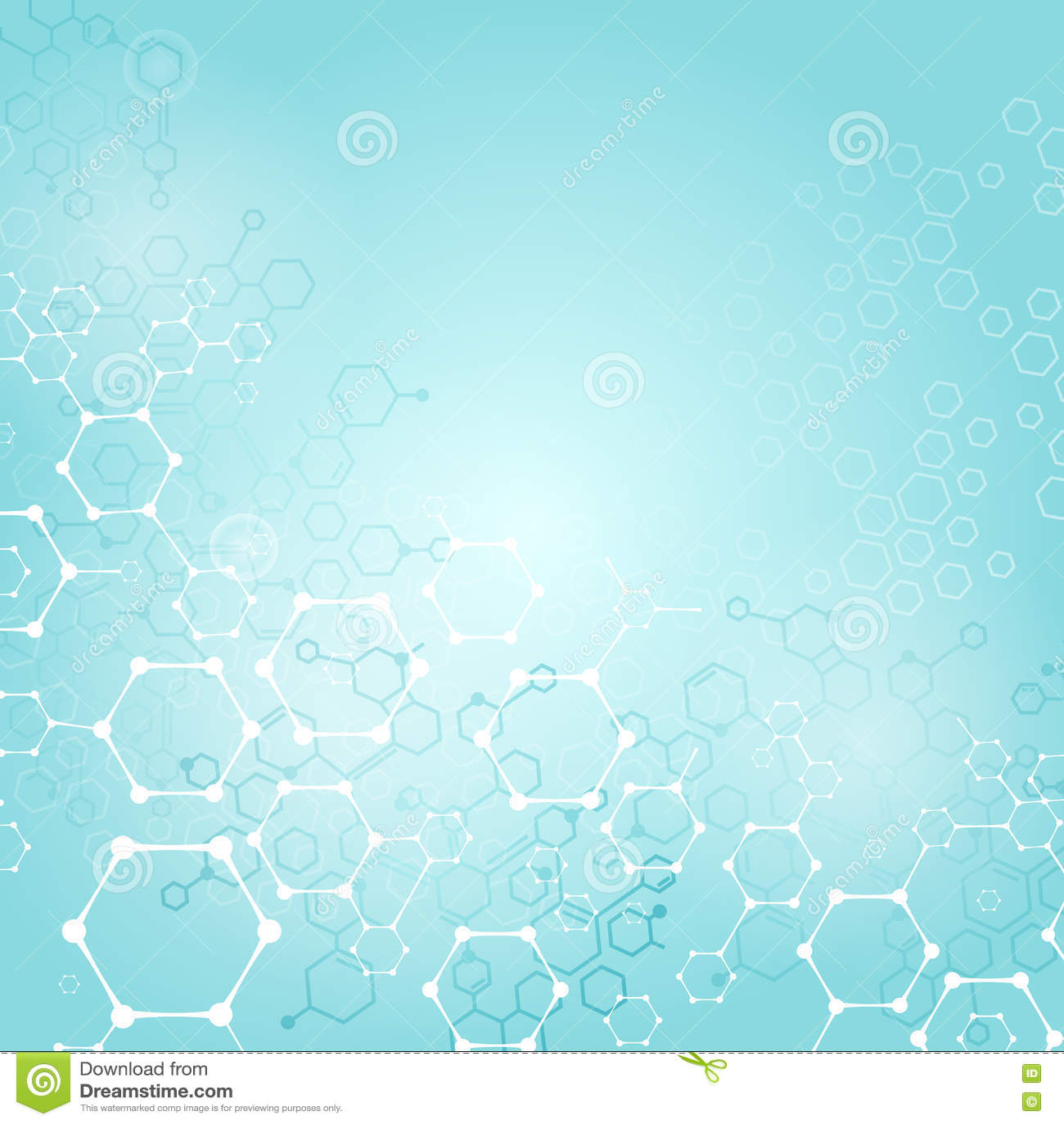 Fondo Científico De La Estructura Molecular O Médico Químico
