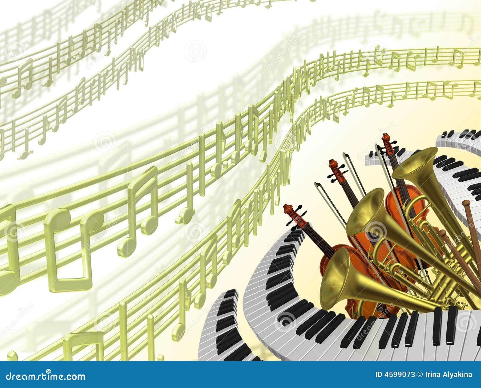 Fondo clásico de la música