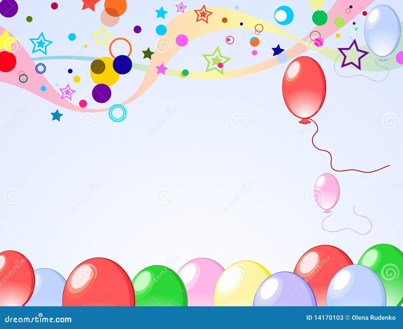 Fondo coloreado con los globos