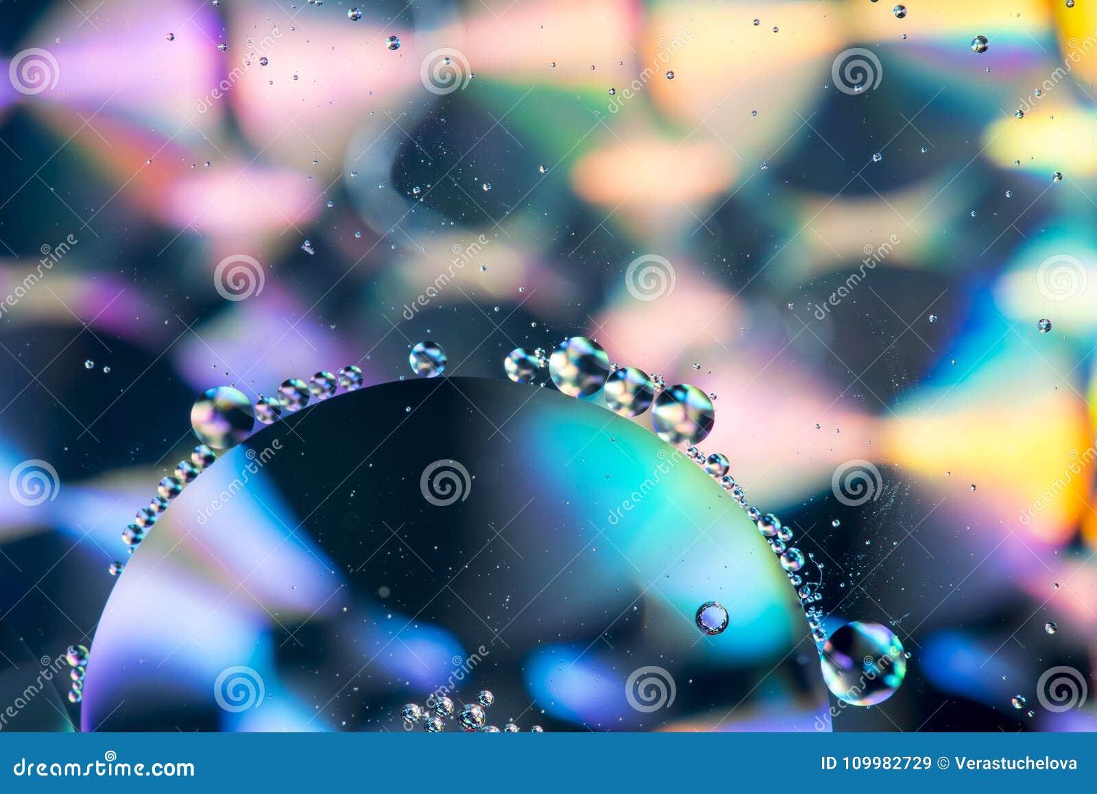 Fondo colorido abstracto aceite/agua