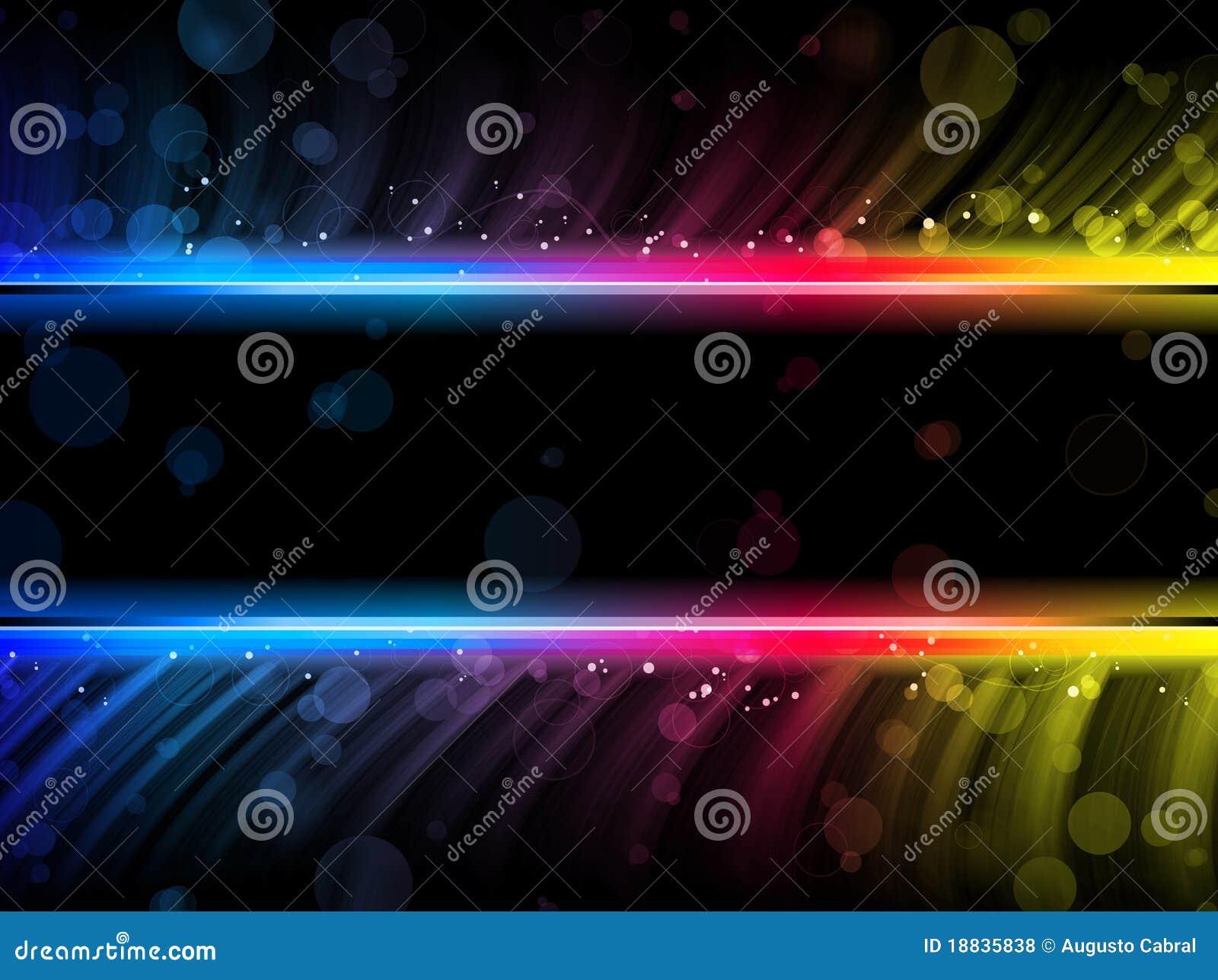 Fondo colorido abstracto de las ondas del disco