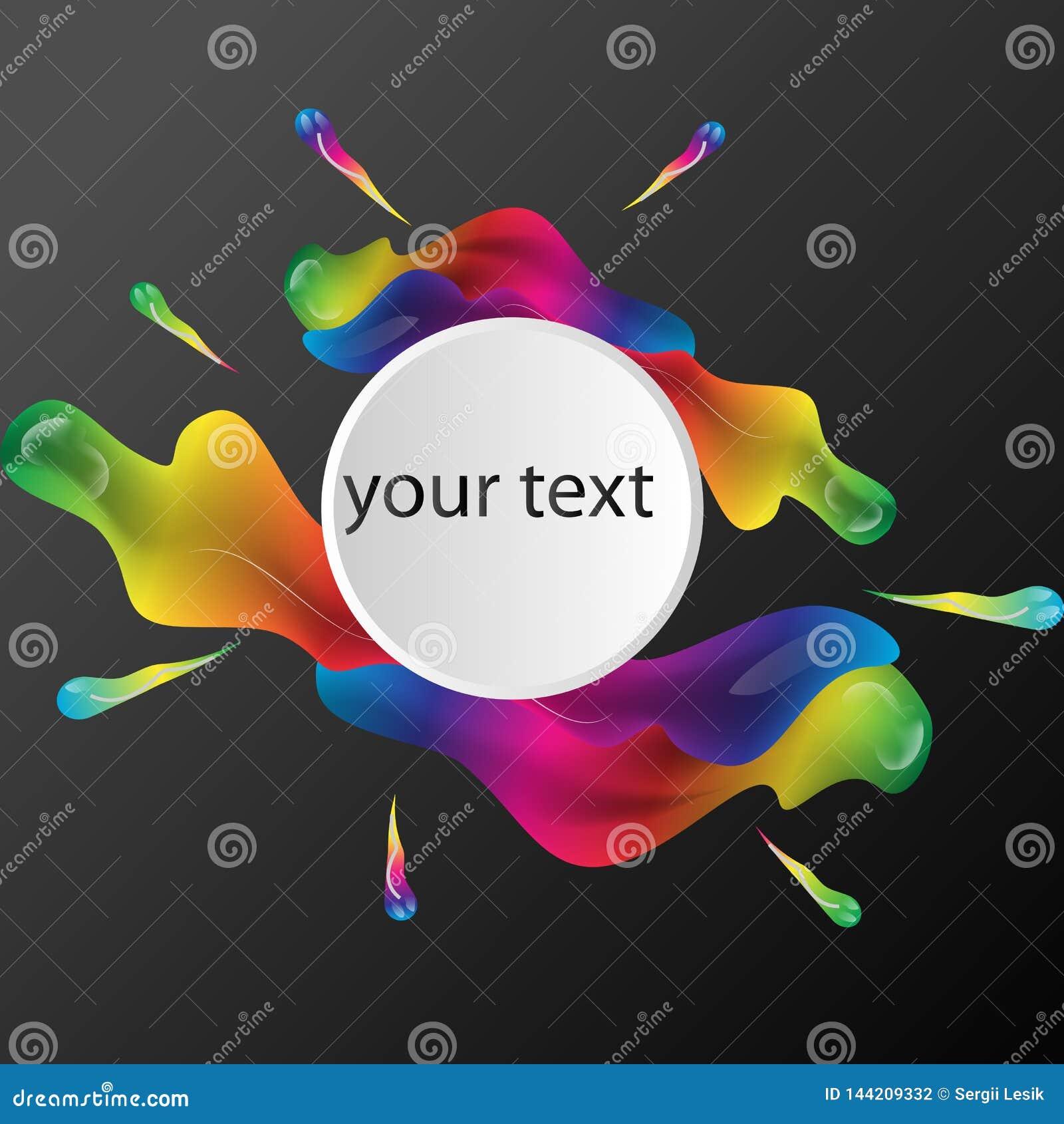 Fondo colorido abstracto del vector, onda líquida del flujo del color para el folleto del diseño, sitio web, aviador