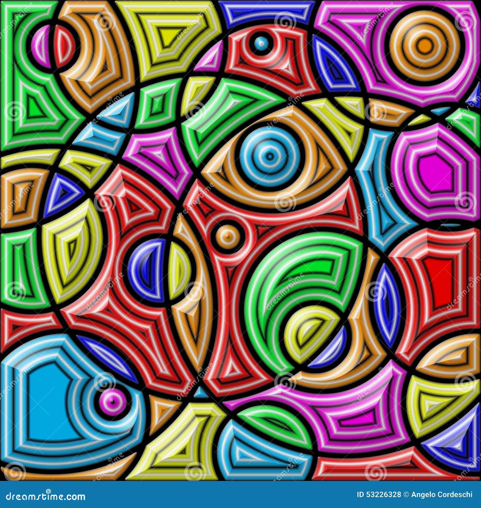 Fondo colorido abstracto Dimensiones de una variable geométricas
